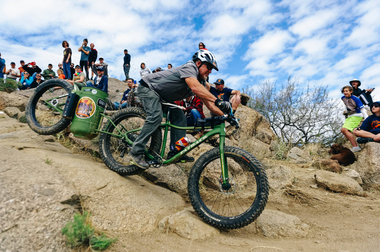 The CycloKeg going down the rock drop!