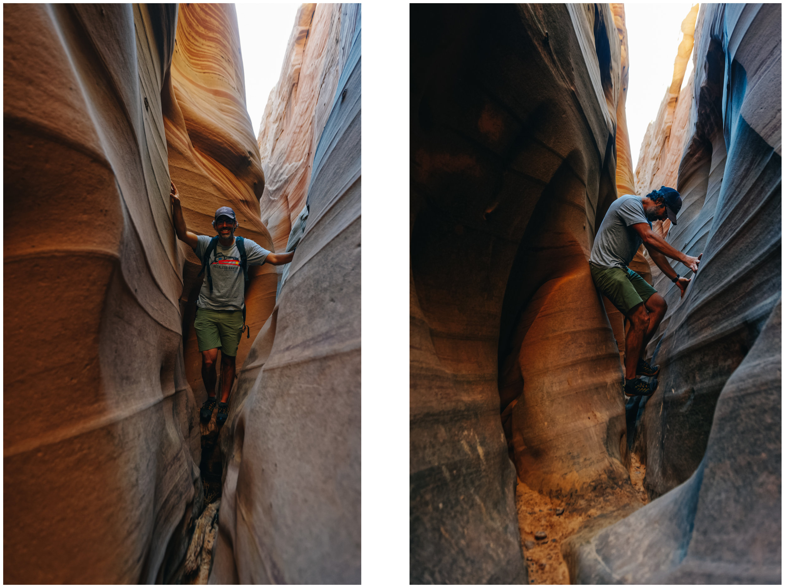 Being tall is not always a good thing when exploring slot canyons.