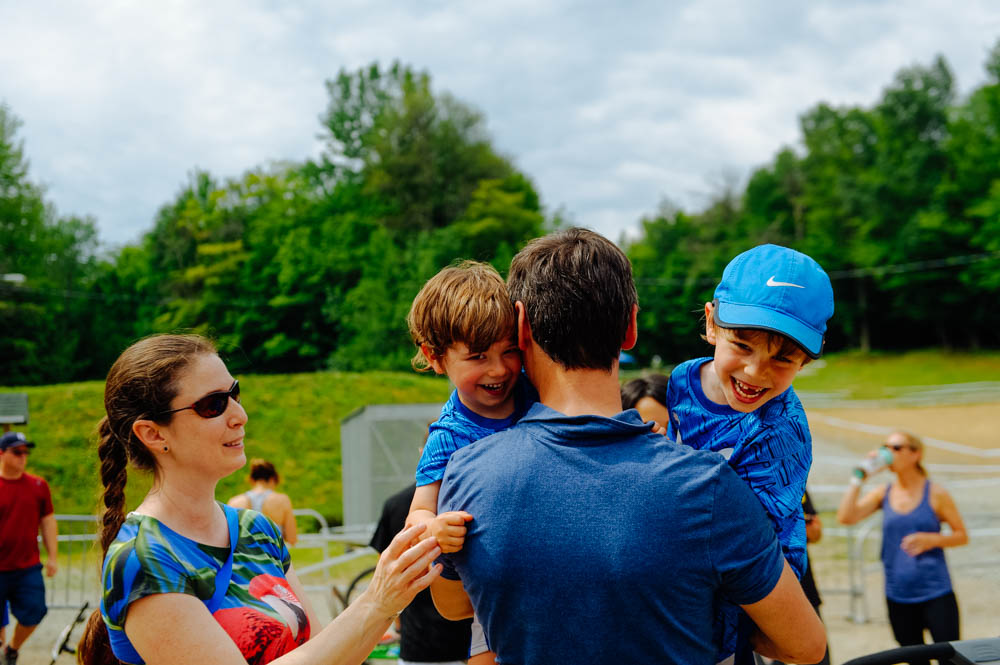 Christiane (my step sister), François and the boys, came to the race! It was such a treat to have them there!