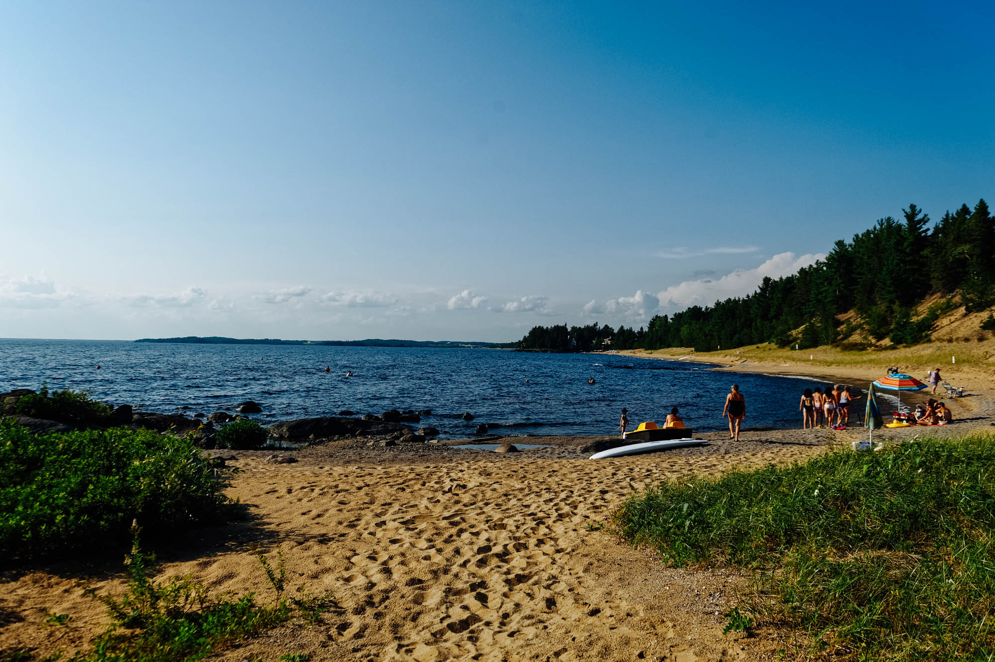 The beautiful private beach by the cottage. Perfect water and sand.