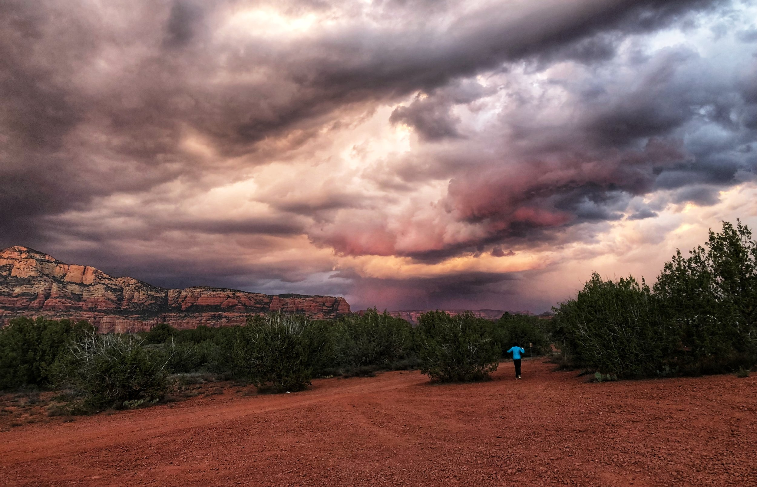 Gorgeous stormy sky from camp on our first night in Sedona.