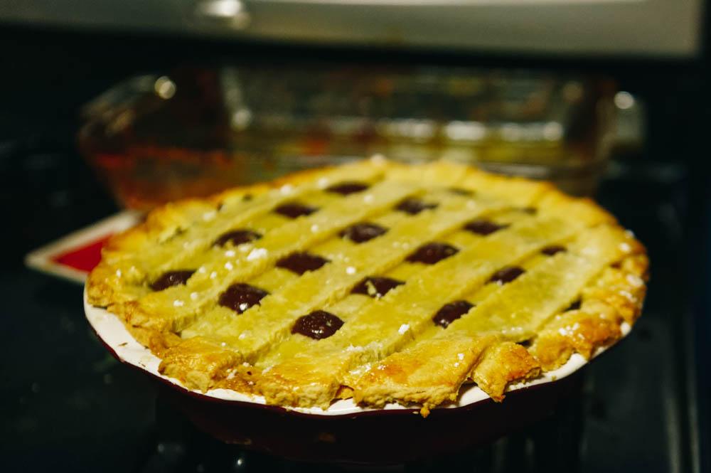 JF's delicious Mascarpone orange chocolate pie (from Jamie Oliver).