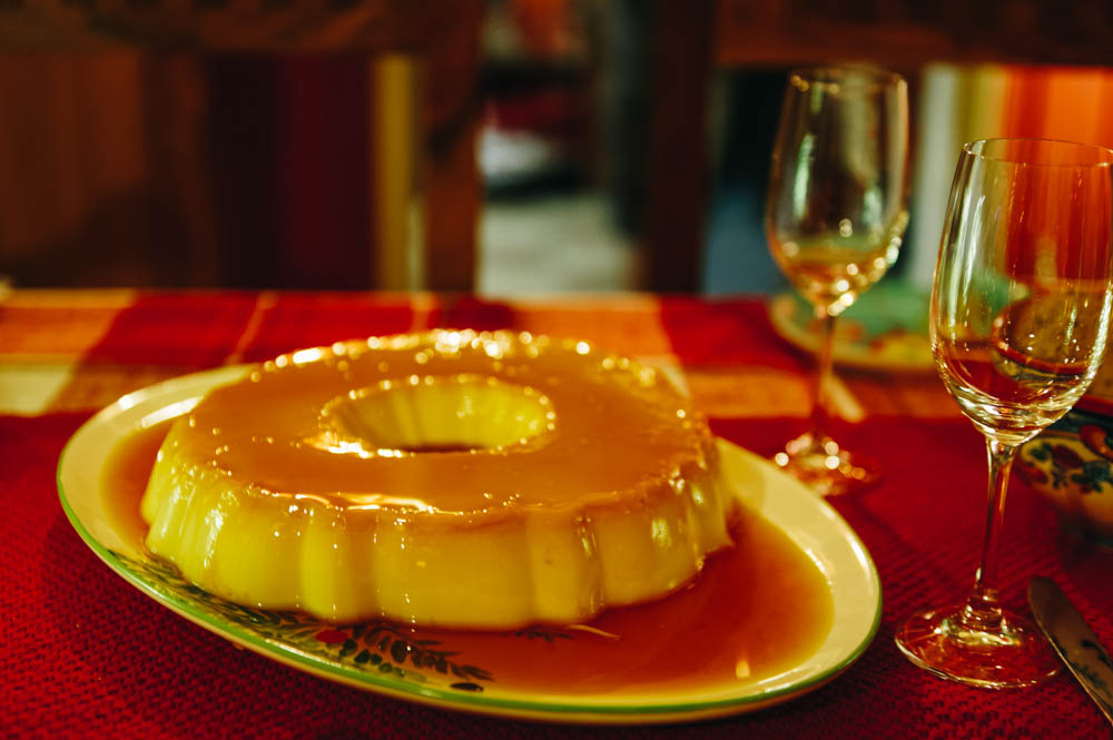 And his wonderful flan!