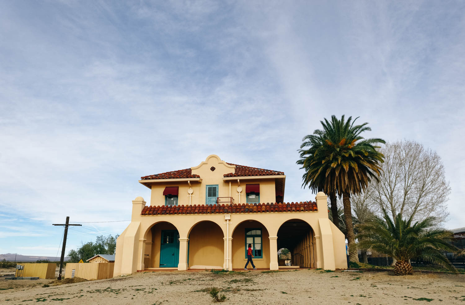 The Kelso Depot's beautiful Spanish Colonial revival style architecture.