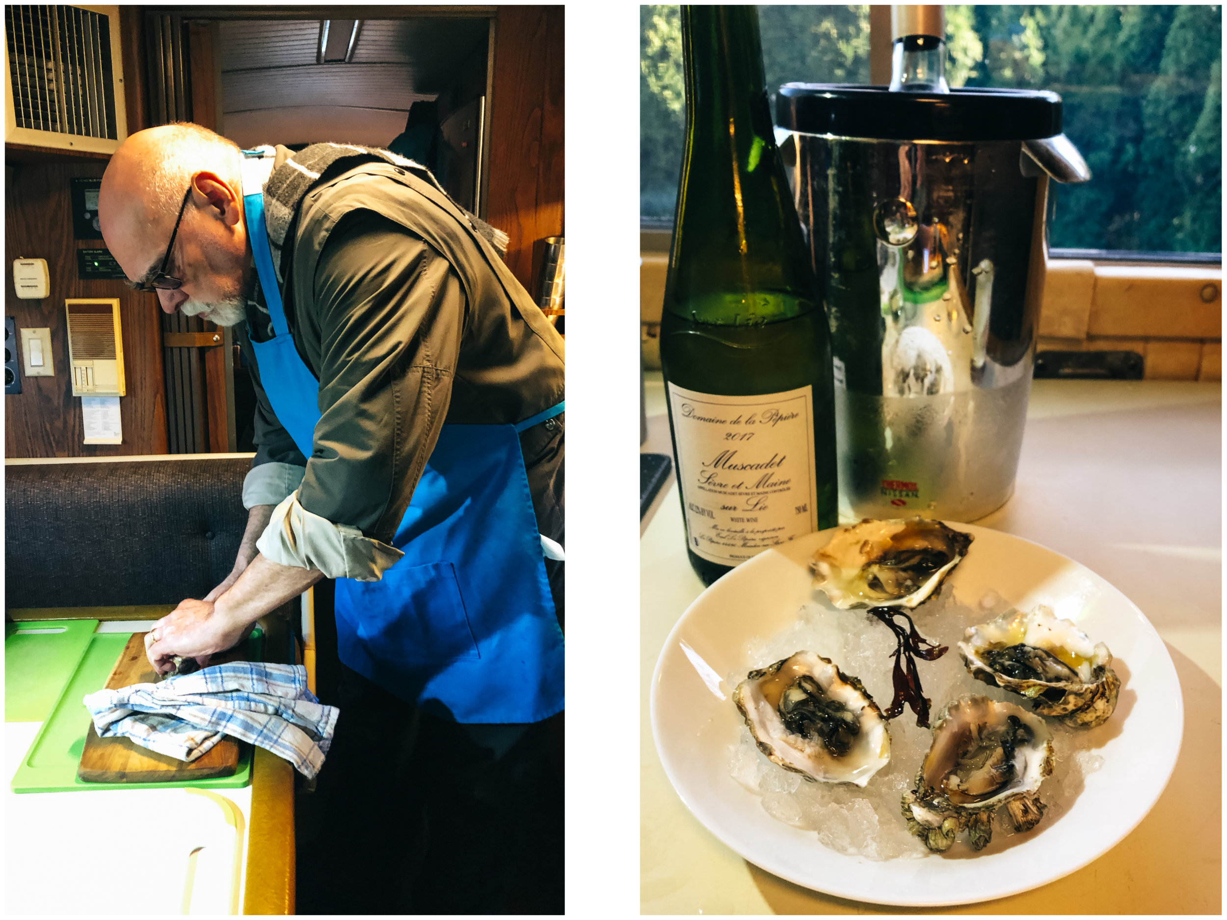 He taught me to shuck oysters.