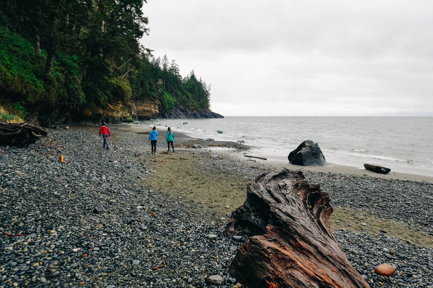 Our birthday hike tradition continues with this beautiful hike on the Juan De Fuca Trail that leads to an isolated beach for my 41st birthday.