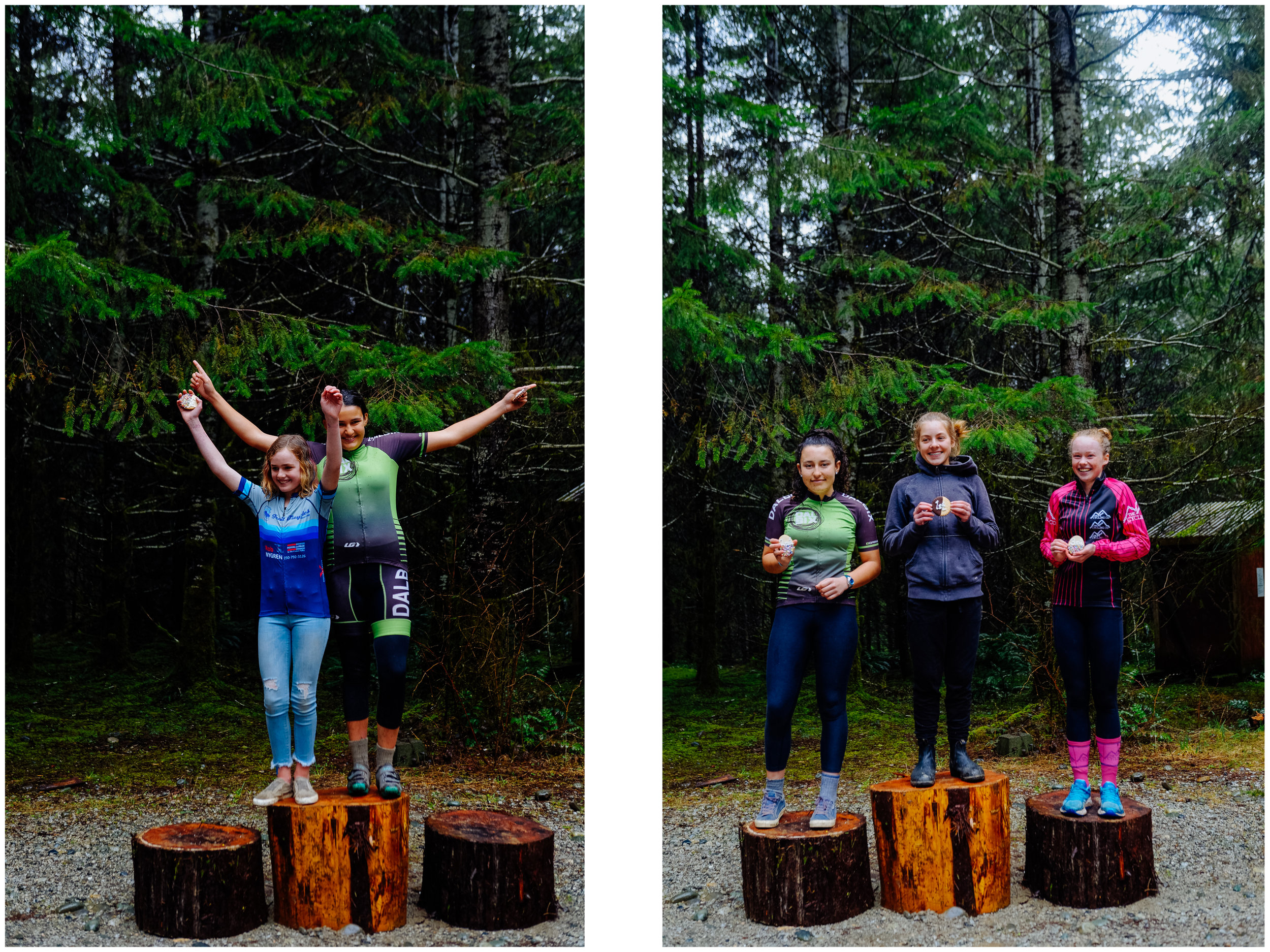 Mathilde got first in the women beginners and Aïsha got second in the intermediate women! A memorable race!