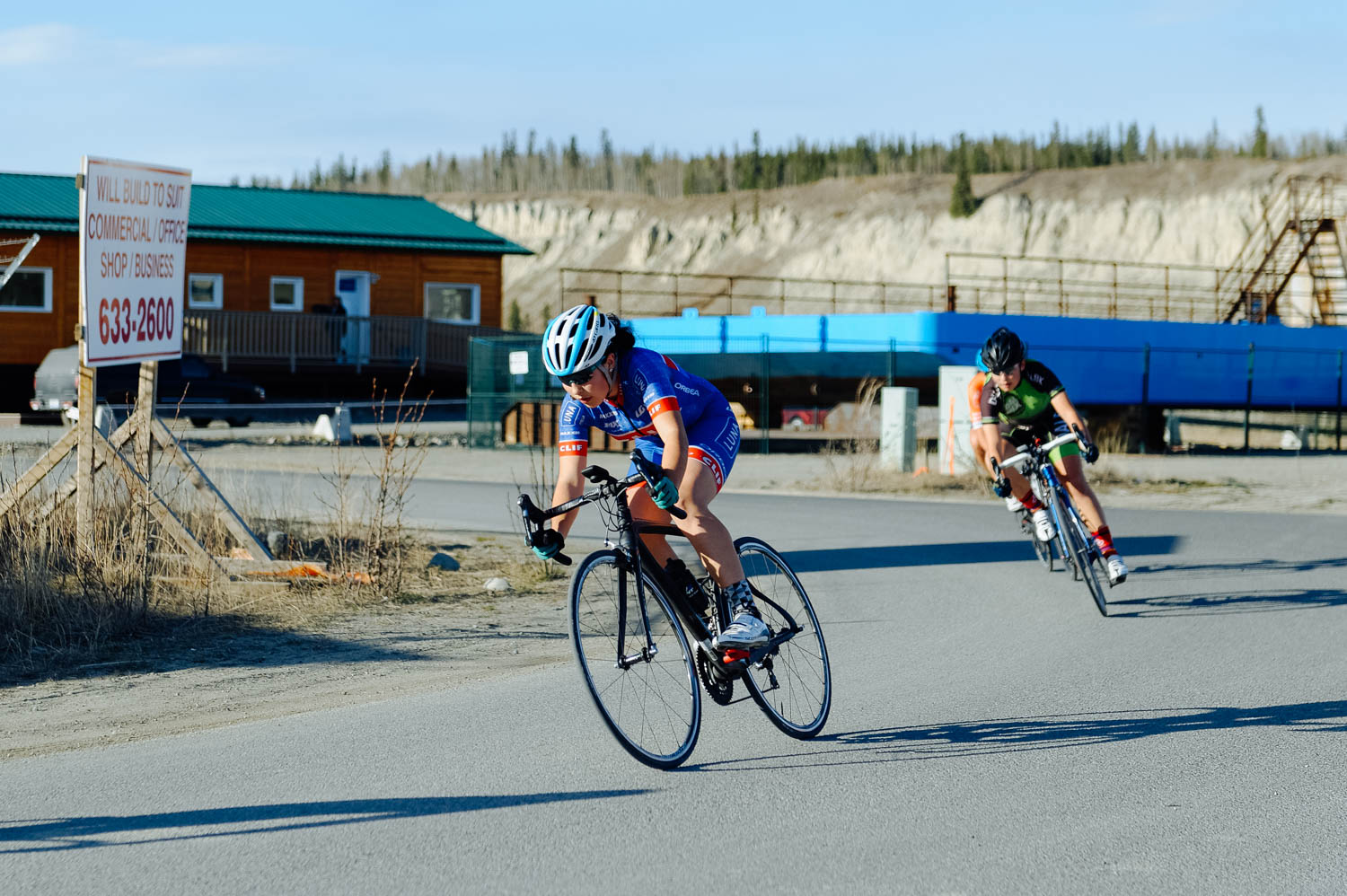 The girls raced their first ever Criterium. What is that you wonder? A criterium, or crit, is a road bike race consisting of several laps around a short closed circuit. The girls are new to road riding and working with the peloton and knowing what to do and when to sprint is an art that has to be learned and experienced over and over. Luckily, this great group at U kon Echelon guided them throughout the race and it was the perfect first experience. They left exhilarated and asking when the next race would be. An undeniable success!
