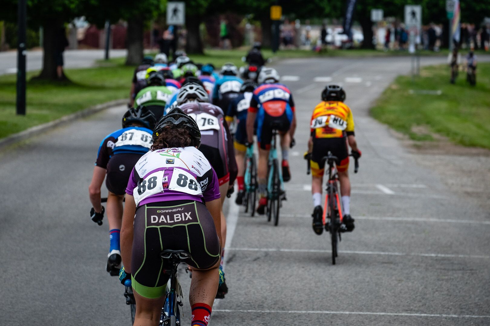 Mara trying to keep up with the boys during stage 3 (crit). Photo by Cody W Gannon.