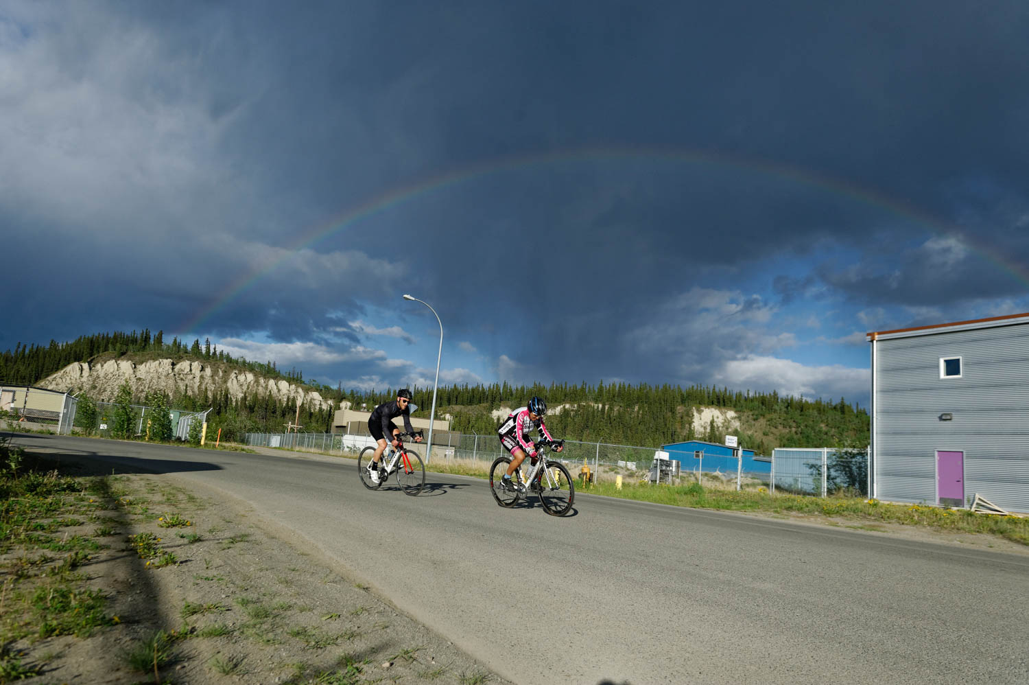 We had all sorts of weather during the Crit and that made for some pretty cool lighting and even a rainbow!