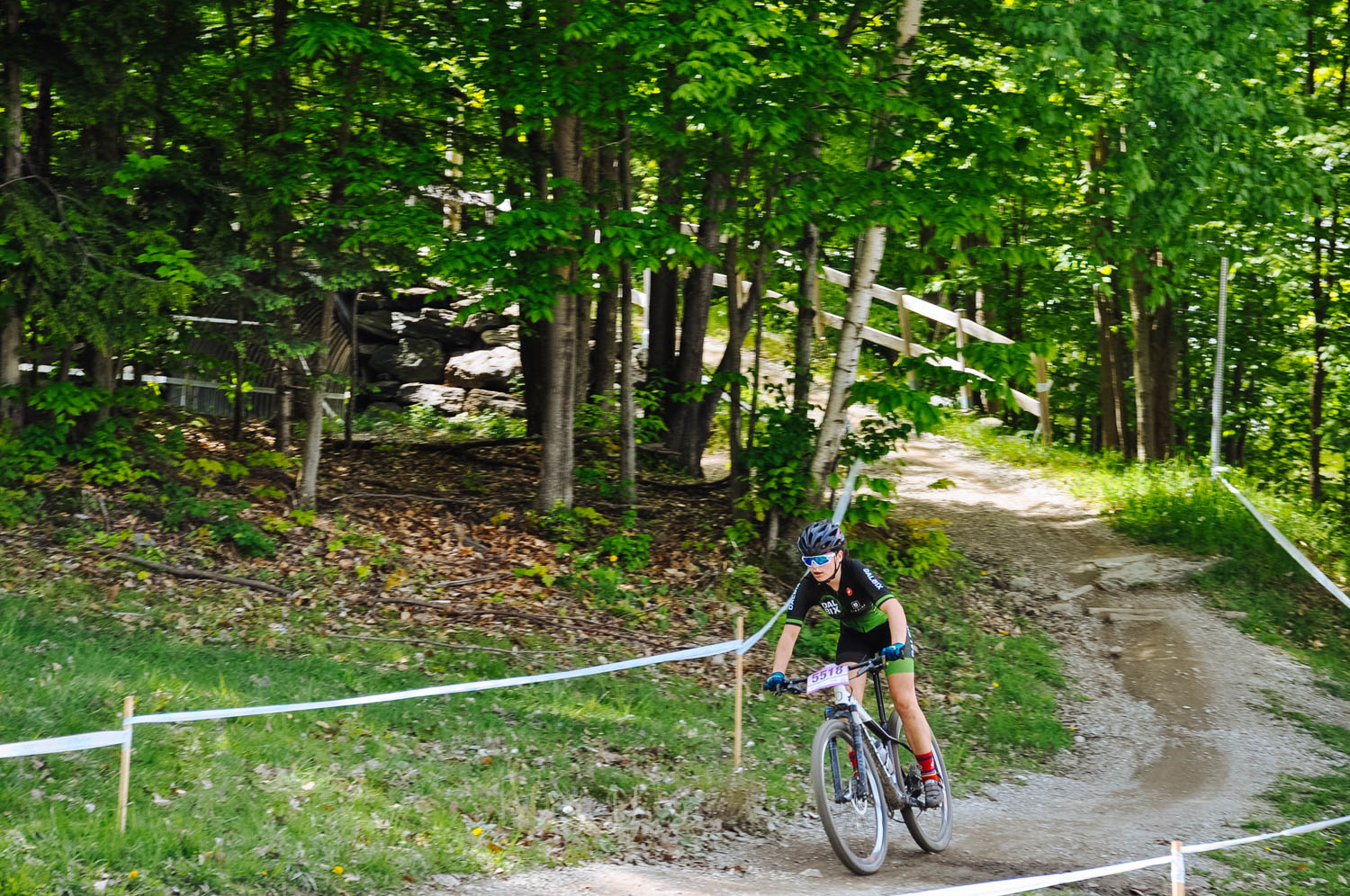 Mara on the Sherbrooke Canada Cup course.