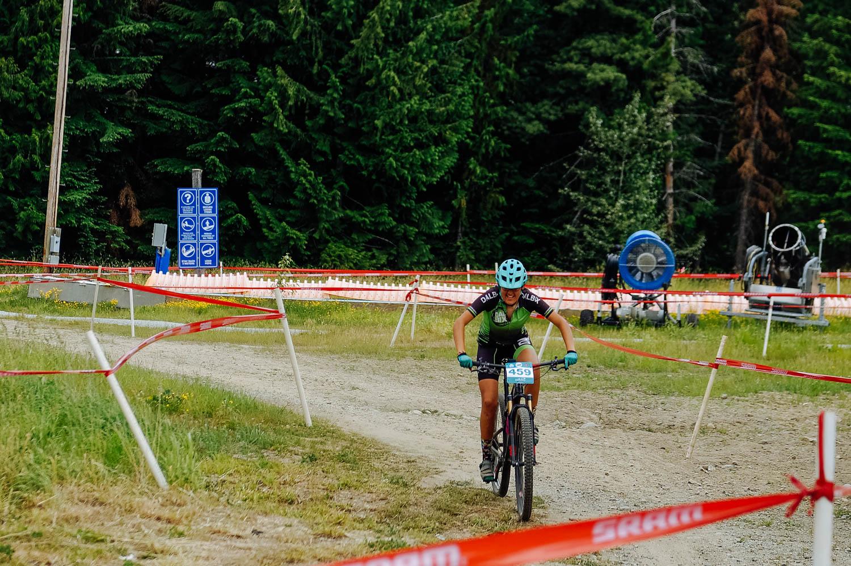 Mathilde, proud to finish that tough race!