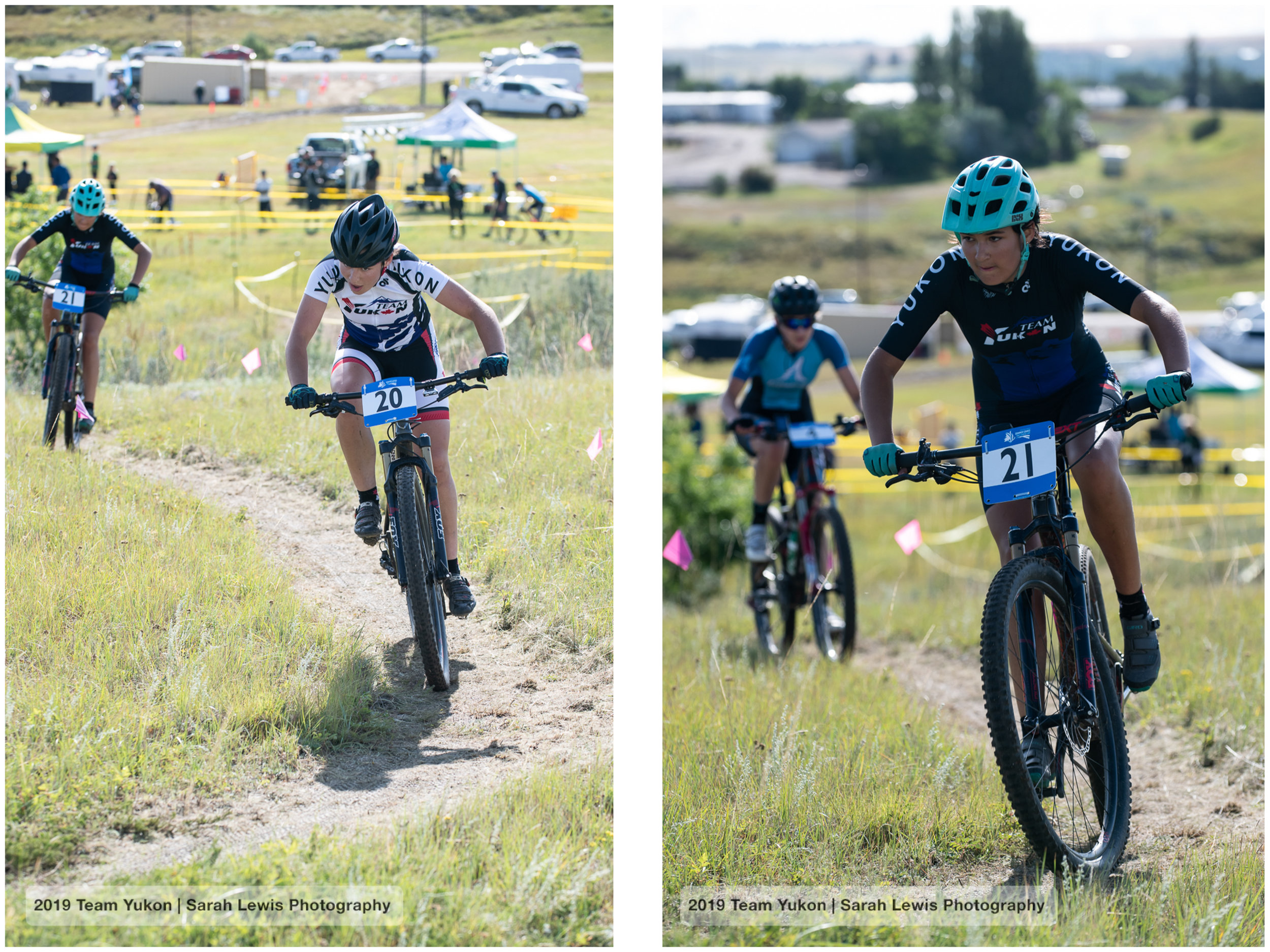 Mara lapping Mathilde (left). Mathilde racing strong to finish 15th (right)! She was the youngest racer out there (the field is from 15 to 19, but she had a special permission since she qualified at the preliminary events).