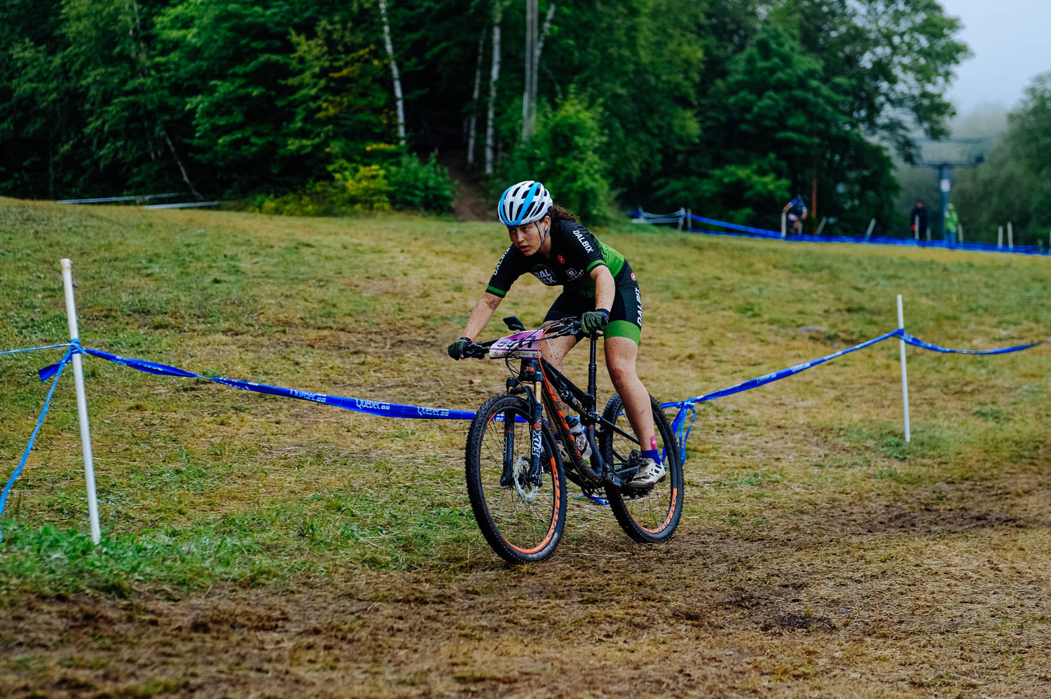 The girls sure got a taste of cyclocross with that course!