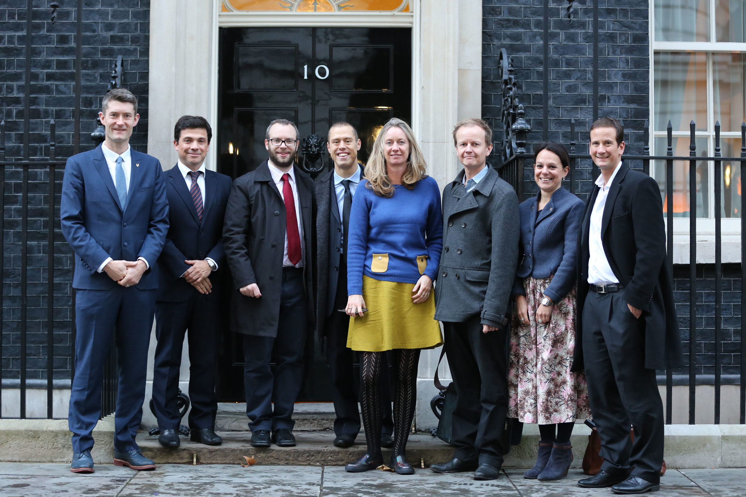 The Kentish Cluster group outside Number 10