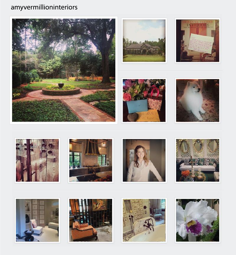 amy vermillion interiors Instagram spotlight