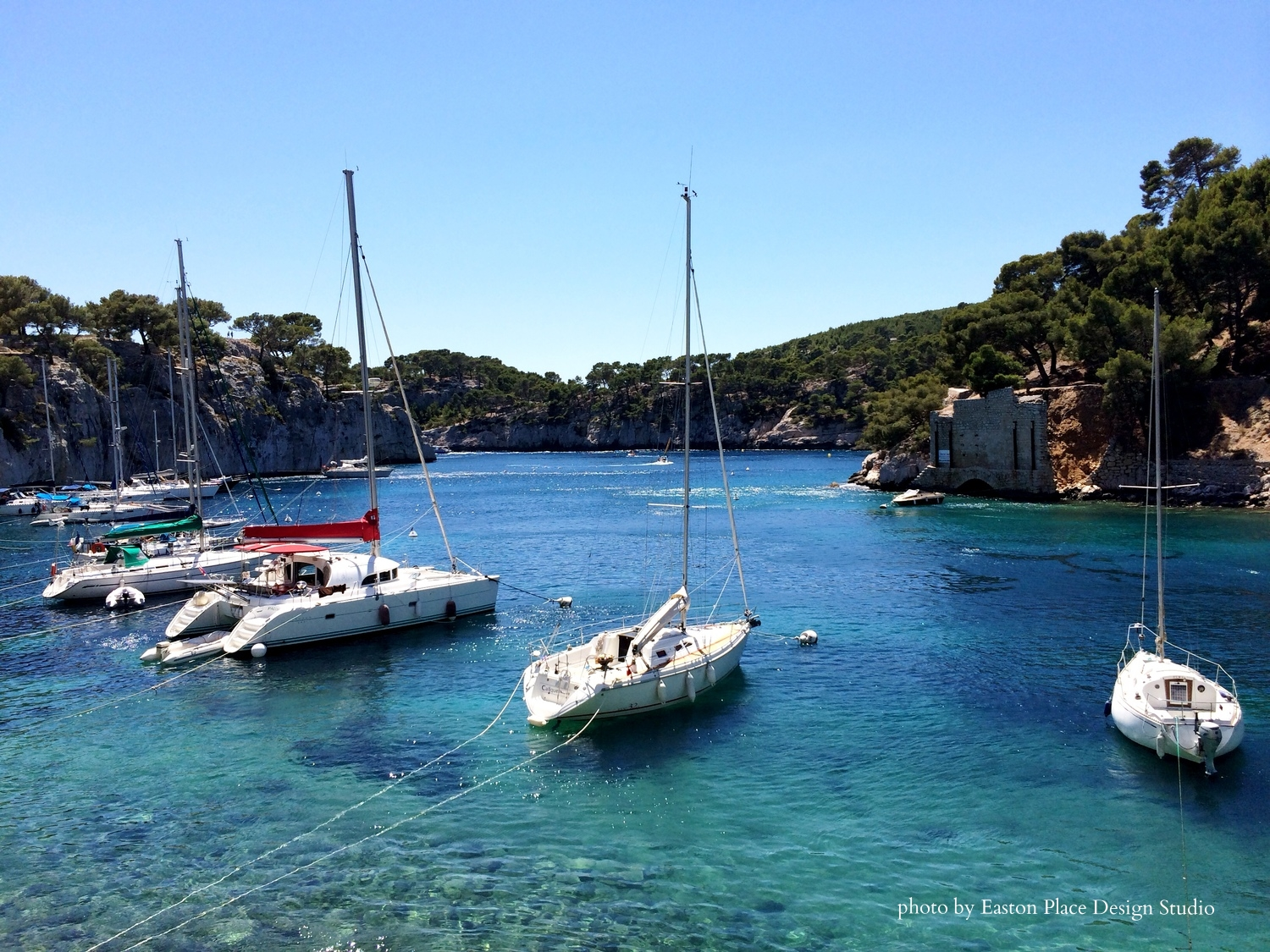 Cassis harbor in the Calanques