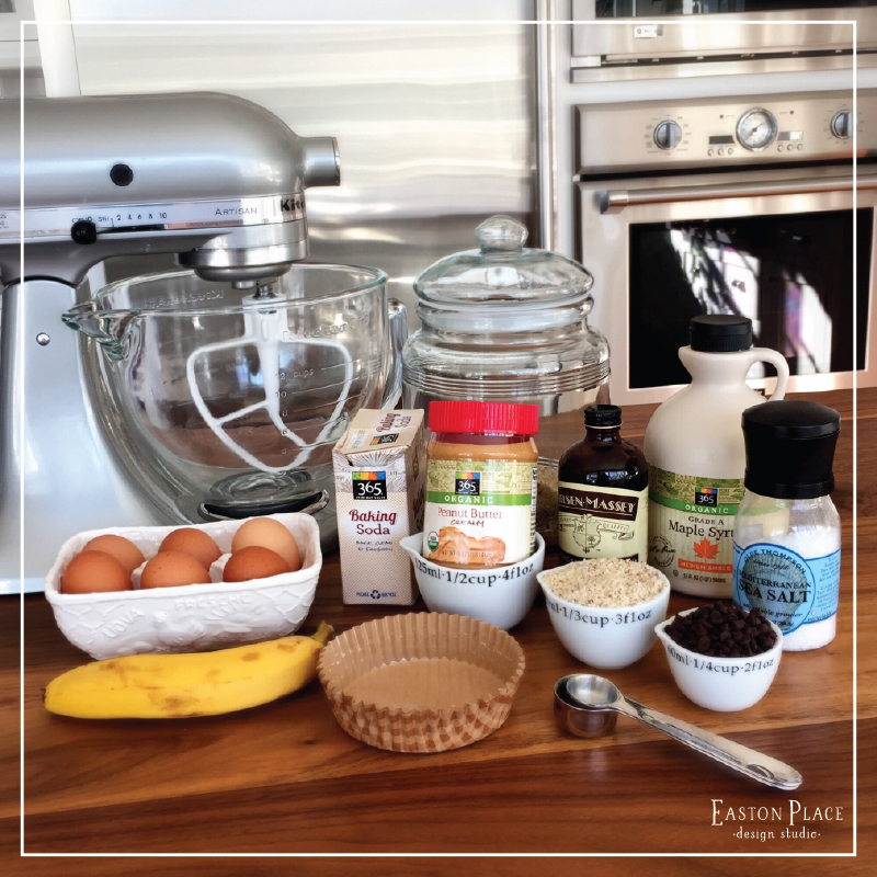 grain free peanut butter banana muffin ingredients
