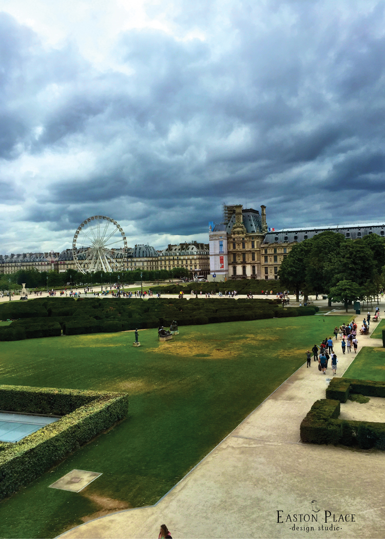 The view from the Louvre, Paris, France