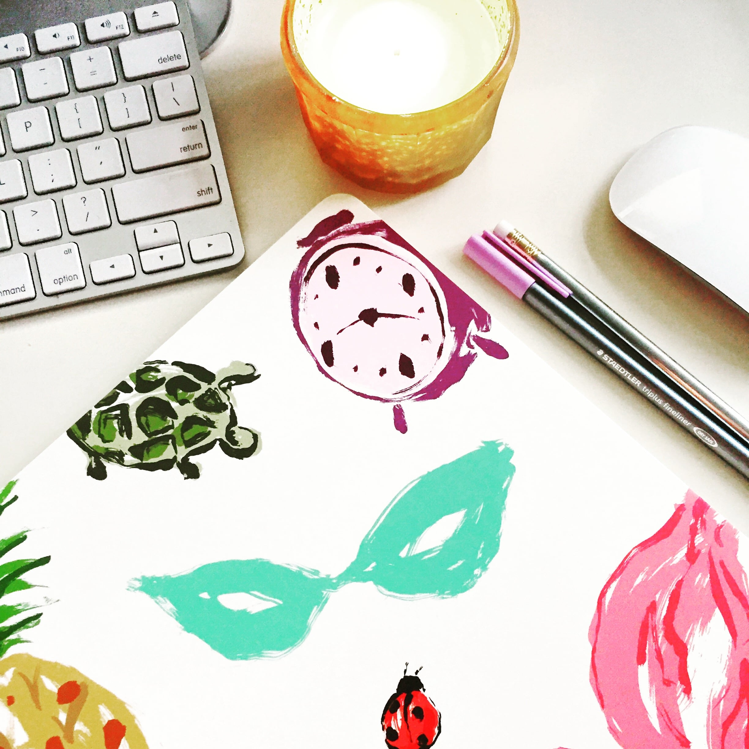 I planned out all of January's blog posts & most of February's with a little help from  Kate Spade.