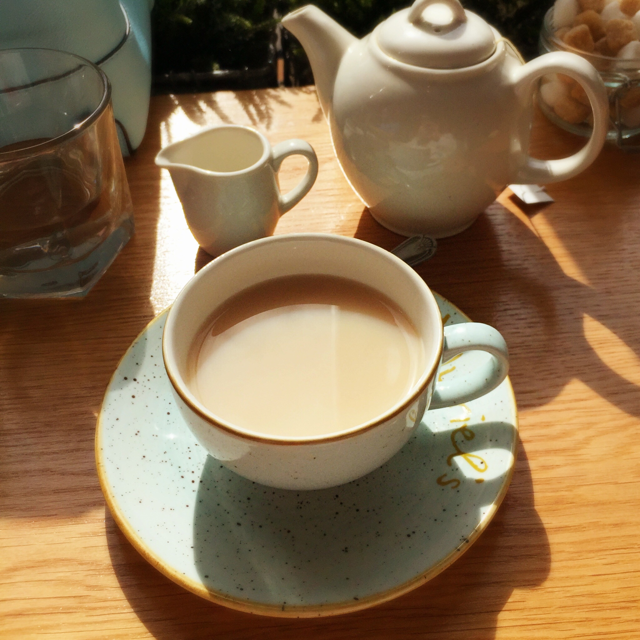 a lovely cuppa at Muriels Kitchen