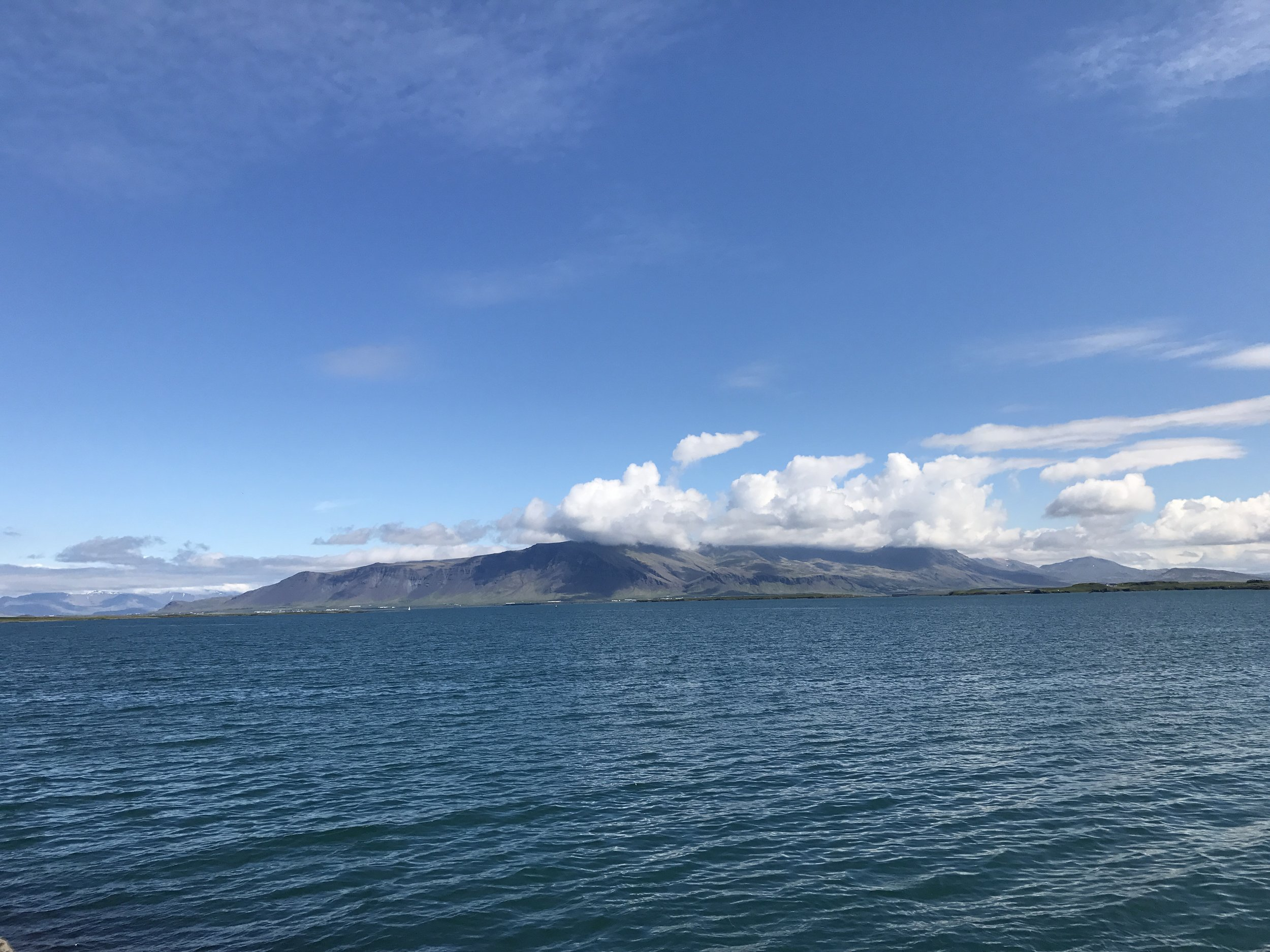 The view from Reykjavik water's edge.