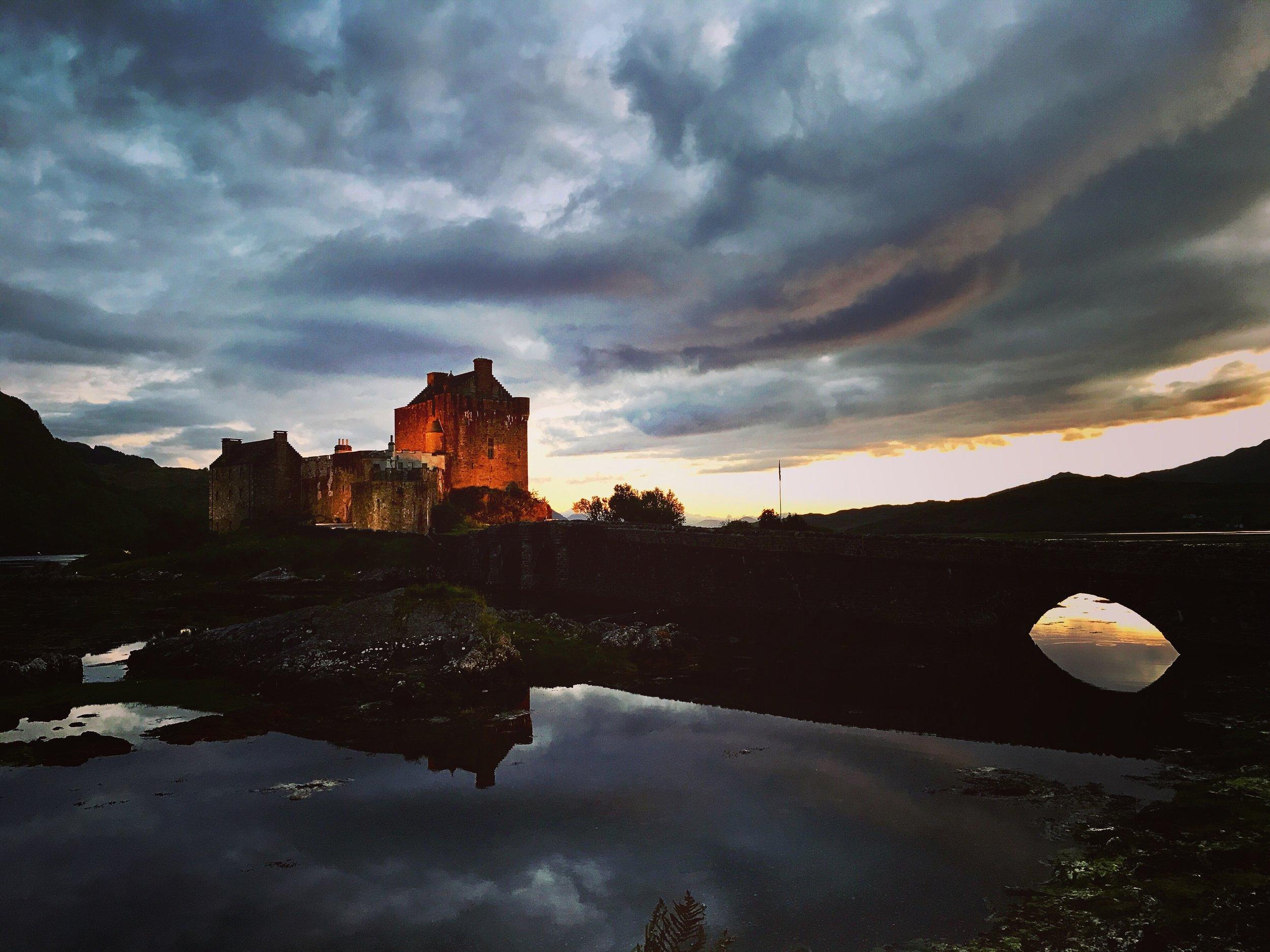 Eilean Donan Castle  at night.