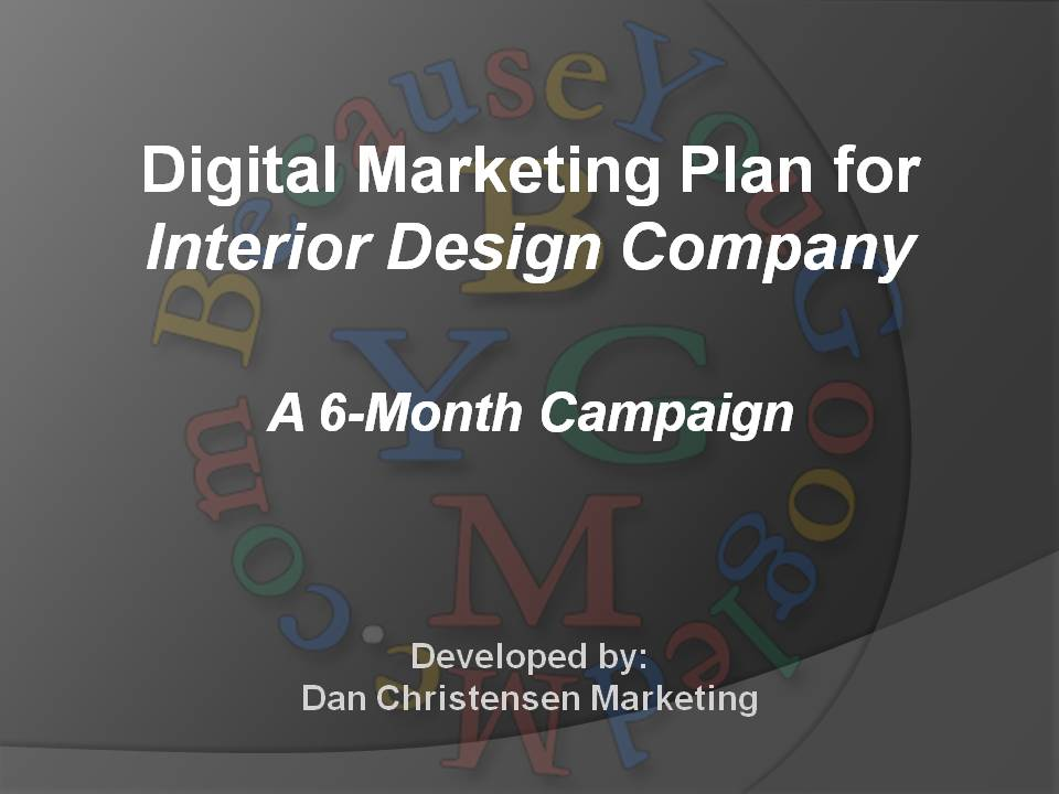 Digital Marketing Plan for Interior Design Company