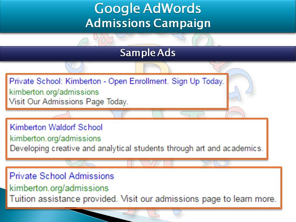 Google AdWords Advertising Campaigns