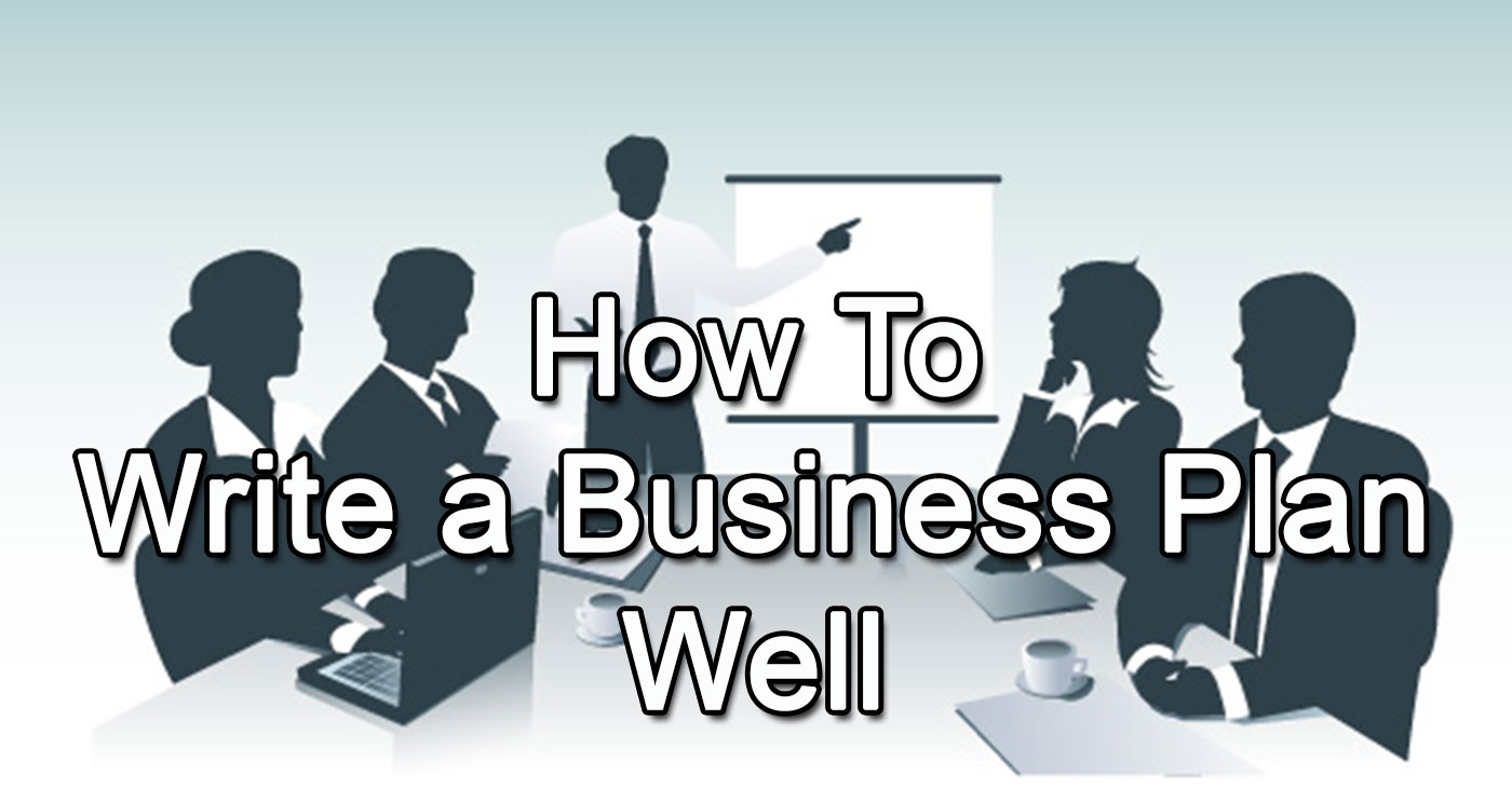 How to write a business plan well blog header