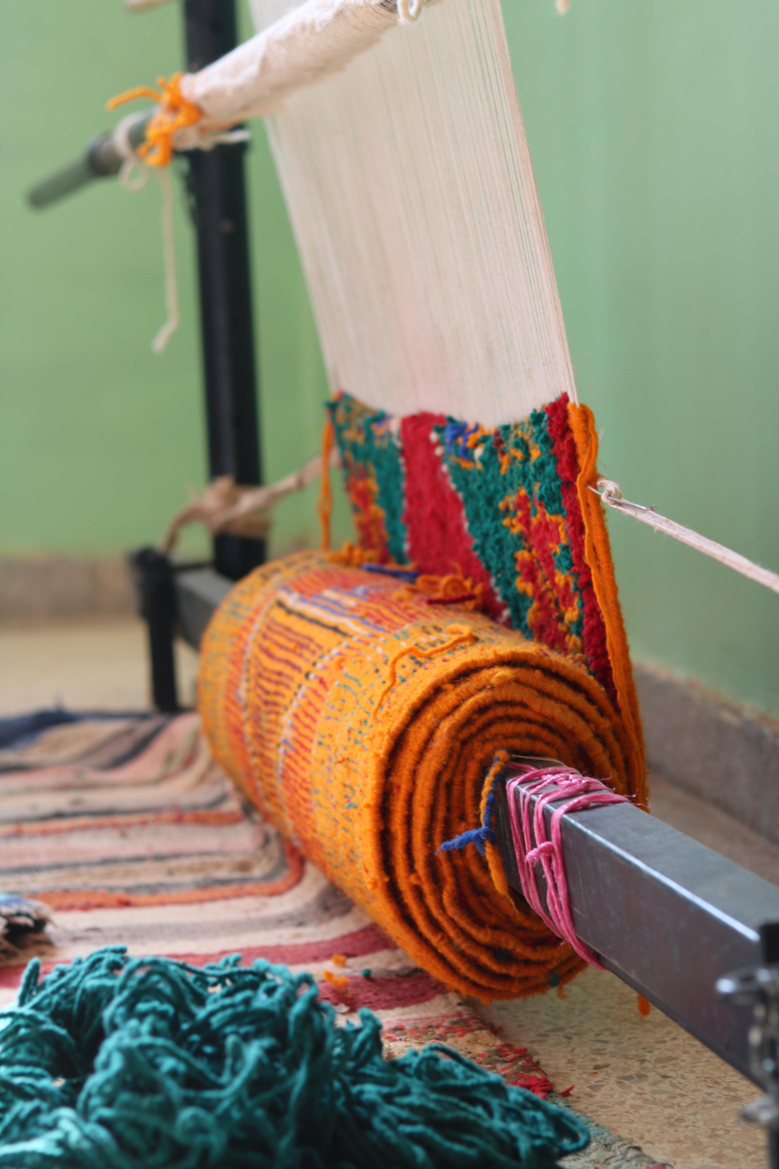 Moroccan rug Hand Woven Women Artistans