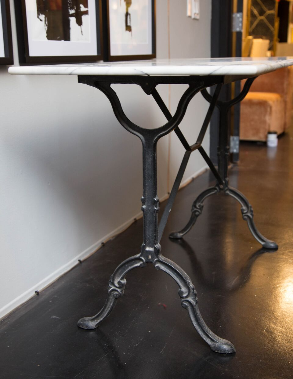 Antique French Marble Bistro Table South Loop Loft