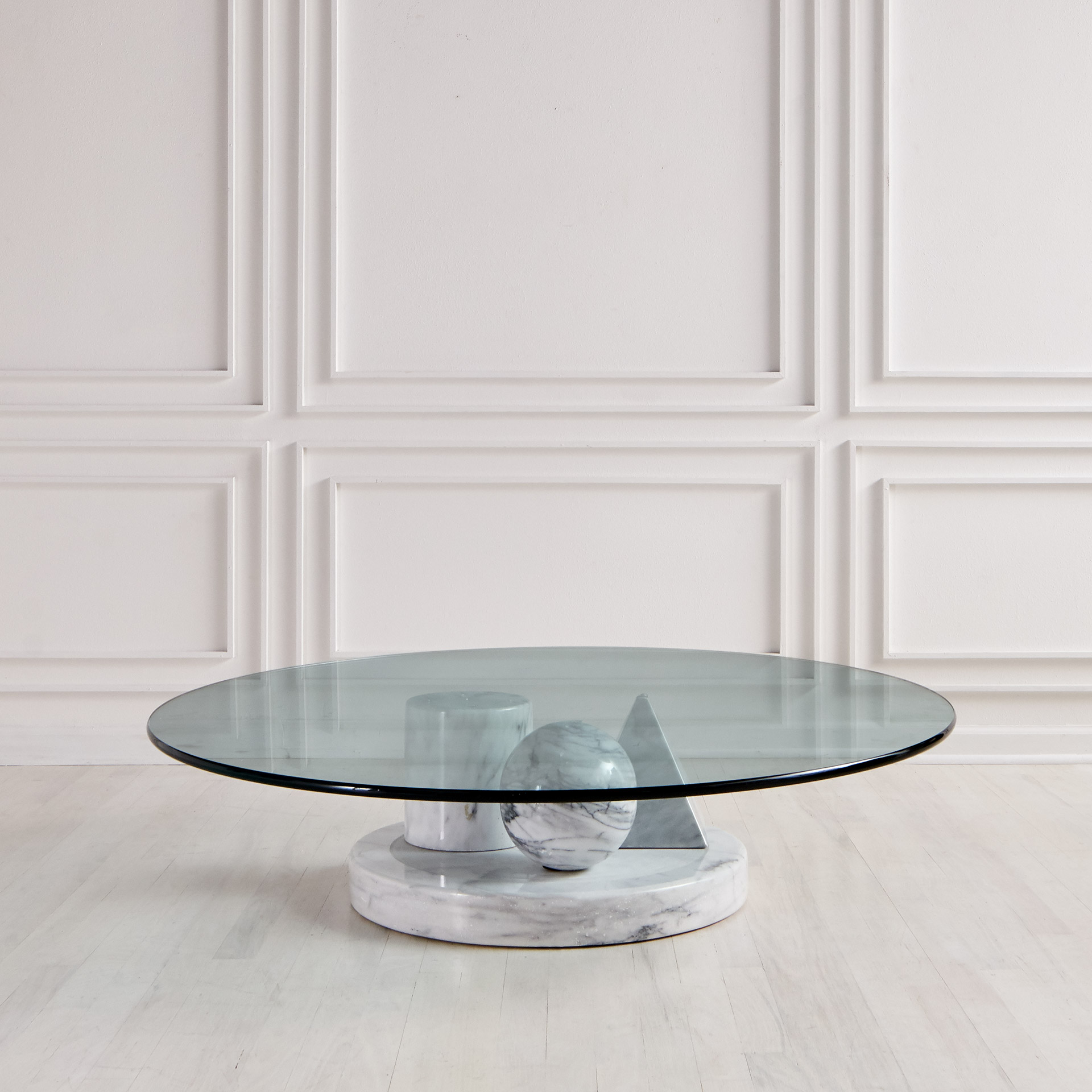 Italian Marble Coffee Table By Massimo Vignelli For Casigliani South Loop Loft