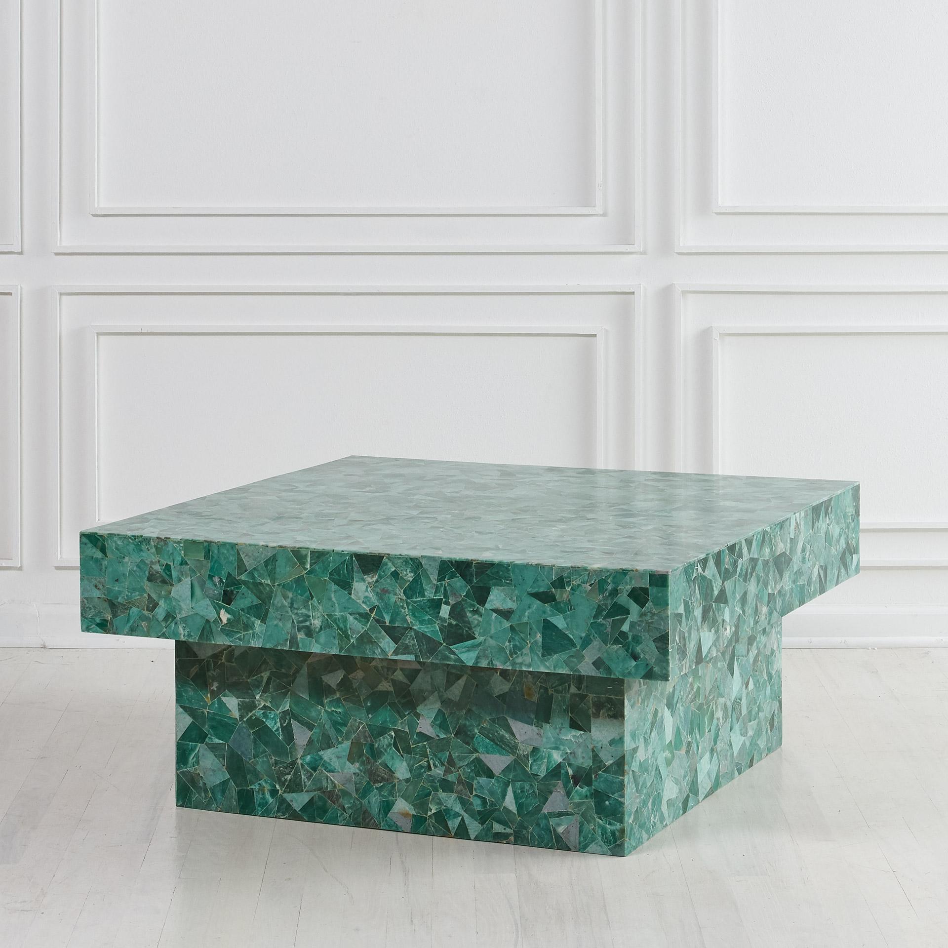 Green Marble Mosaic Coffee Table South Loop Loft