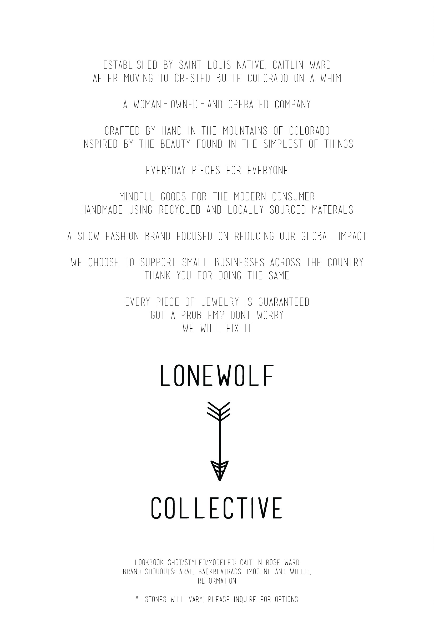 LOOKBOOK — Lonewolf Collective
