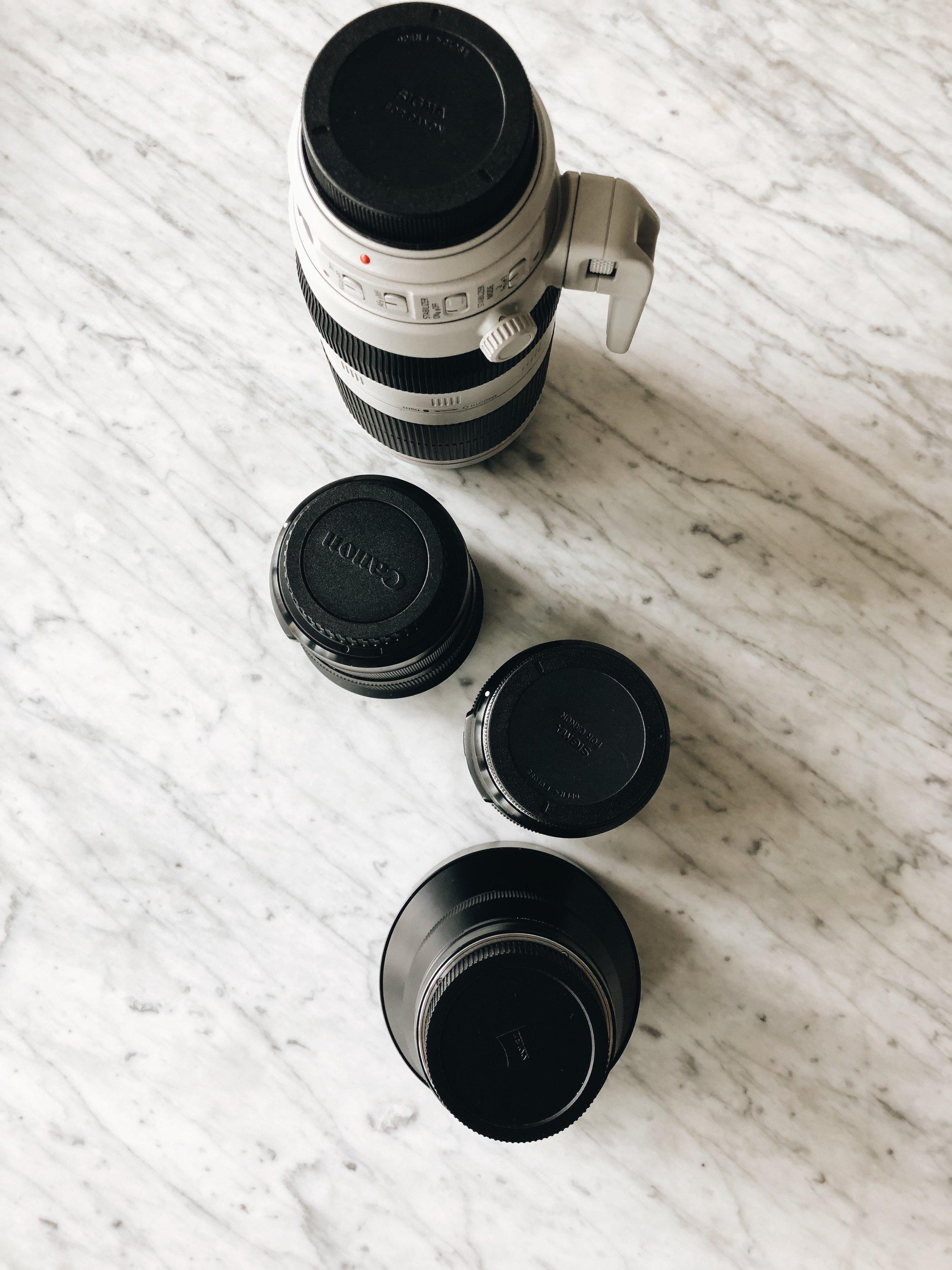 My Photography Lenses