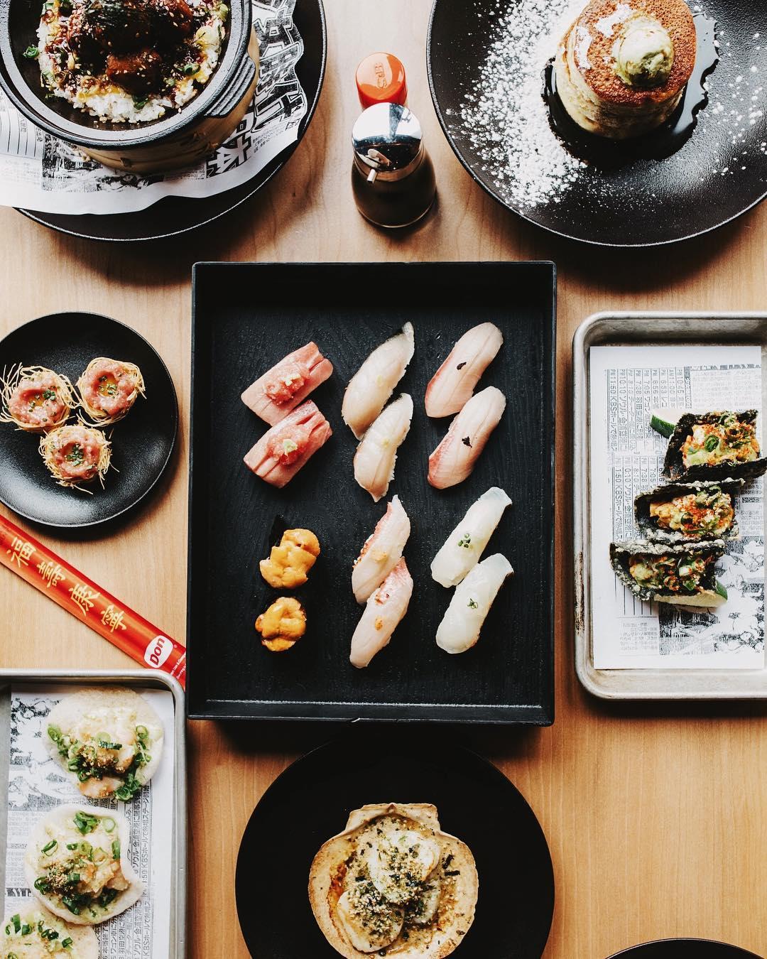 Food photography at Sushi San