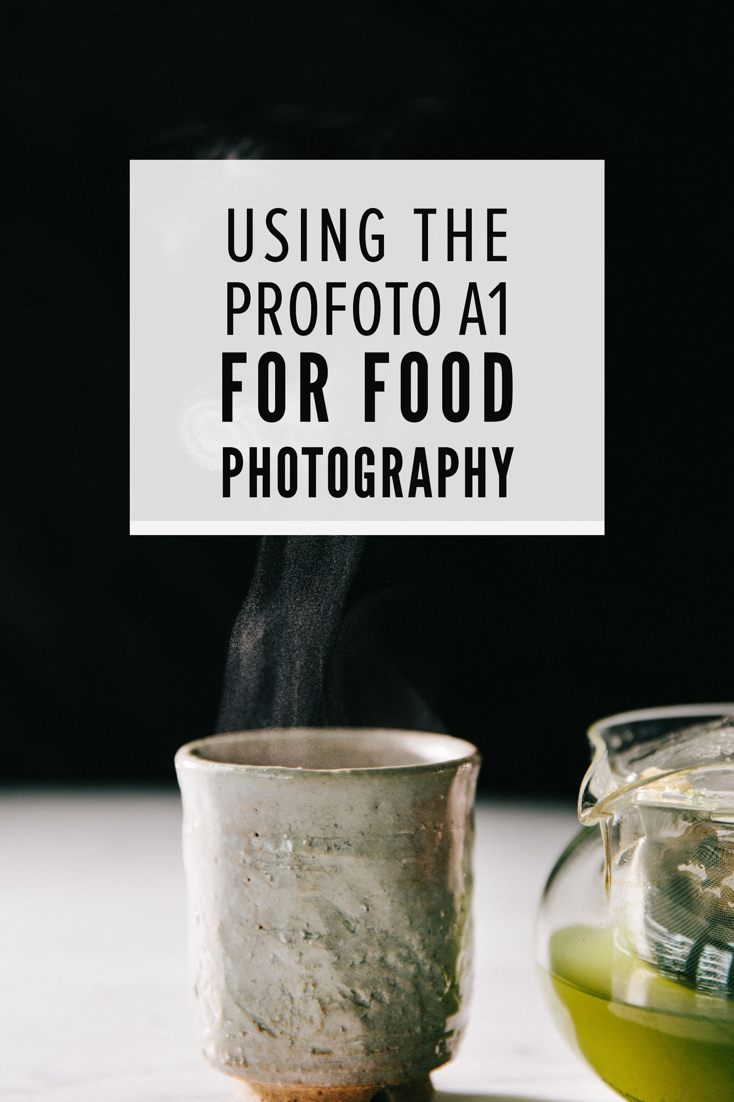 Using the Profoto A1 for Food Photography