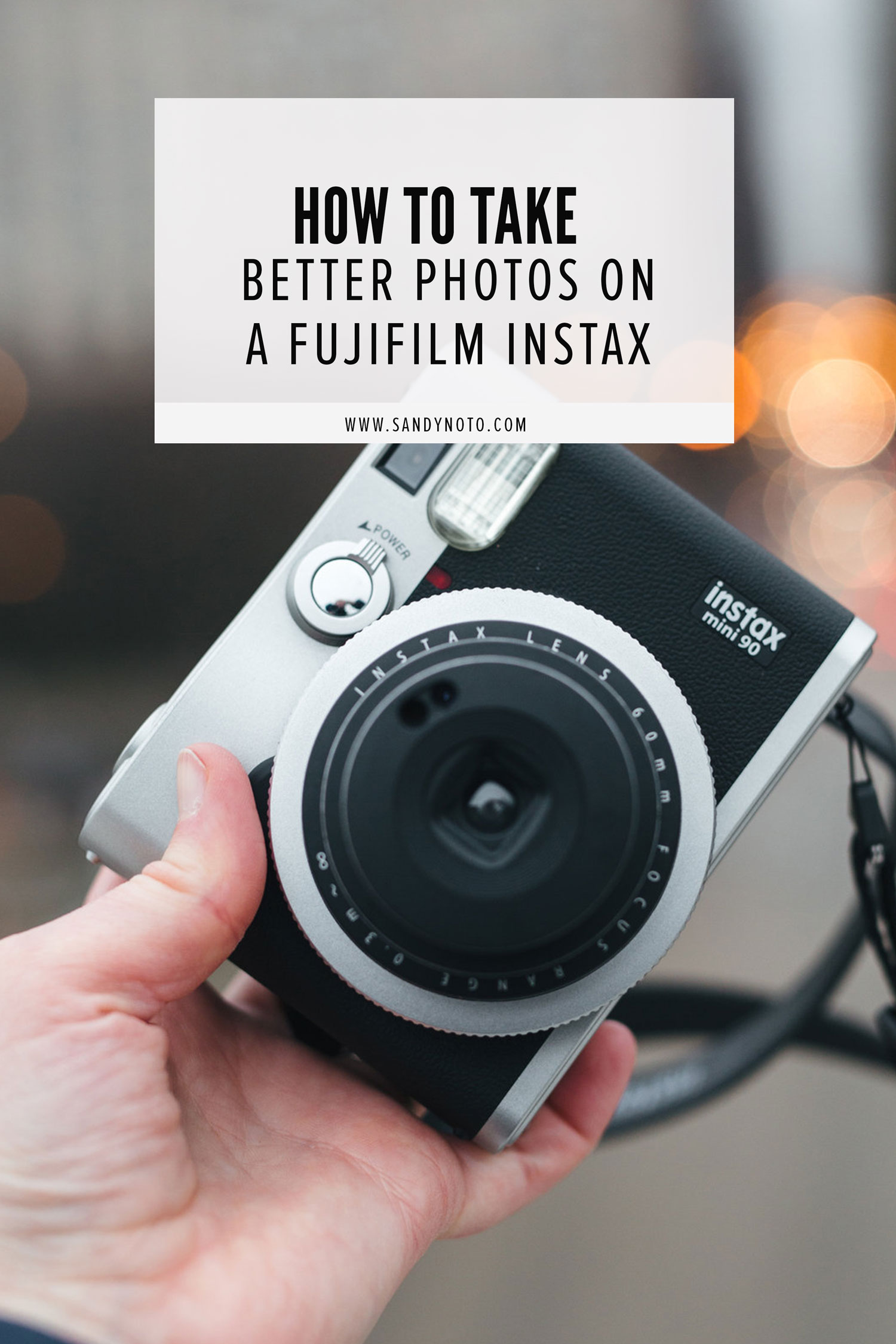 How to take better photos on a fujifilm instax