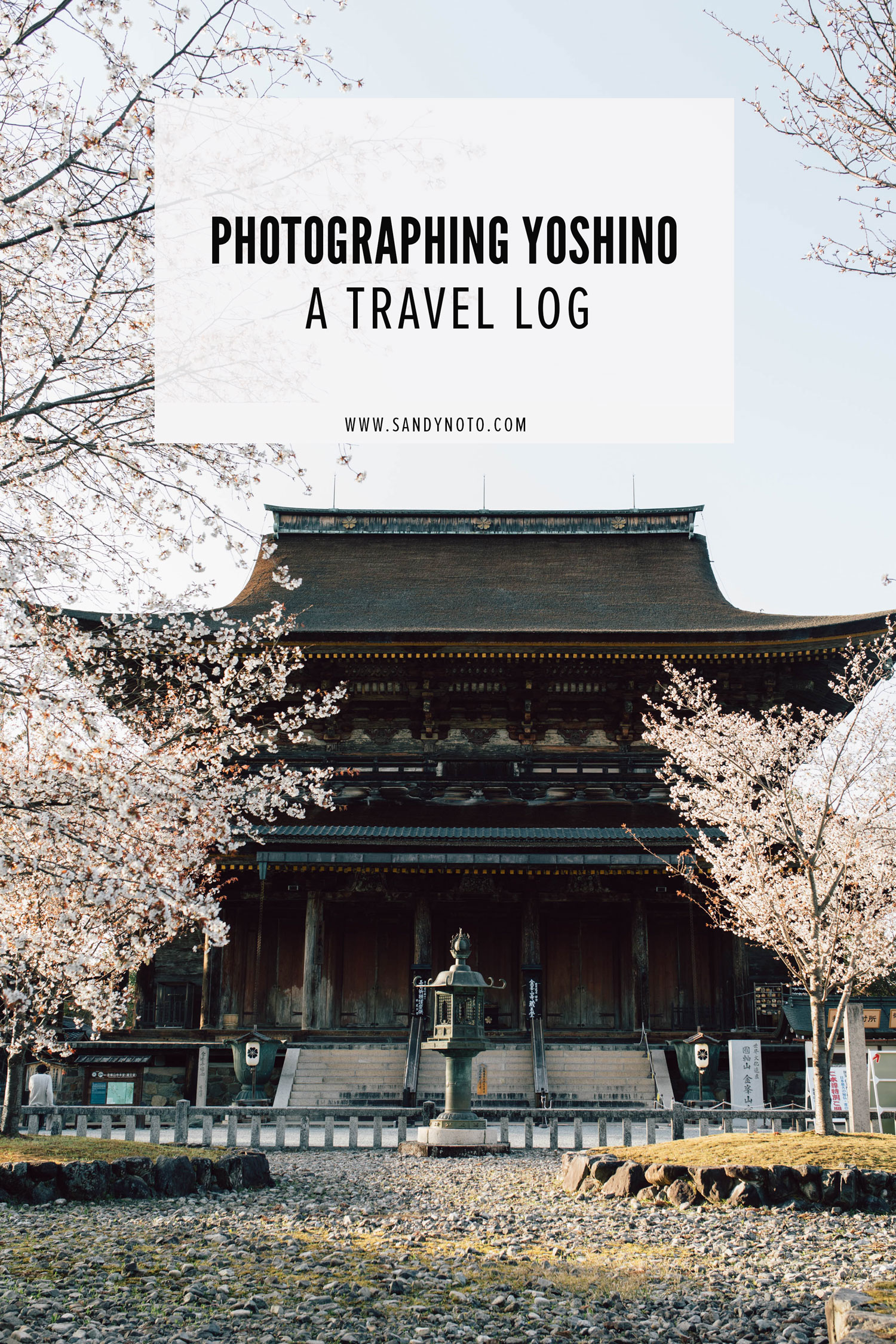 Photographing Yoshino, Japan