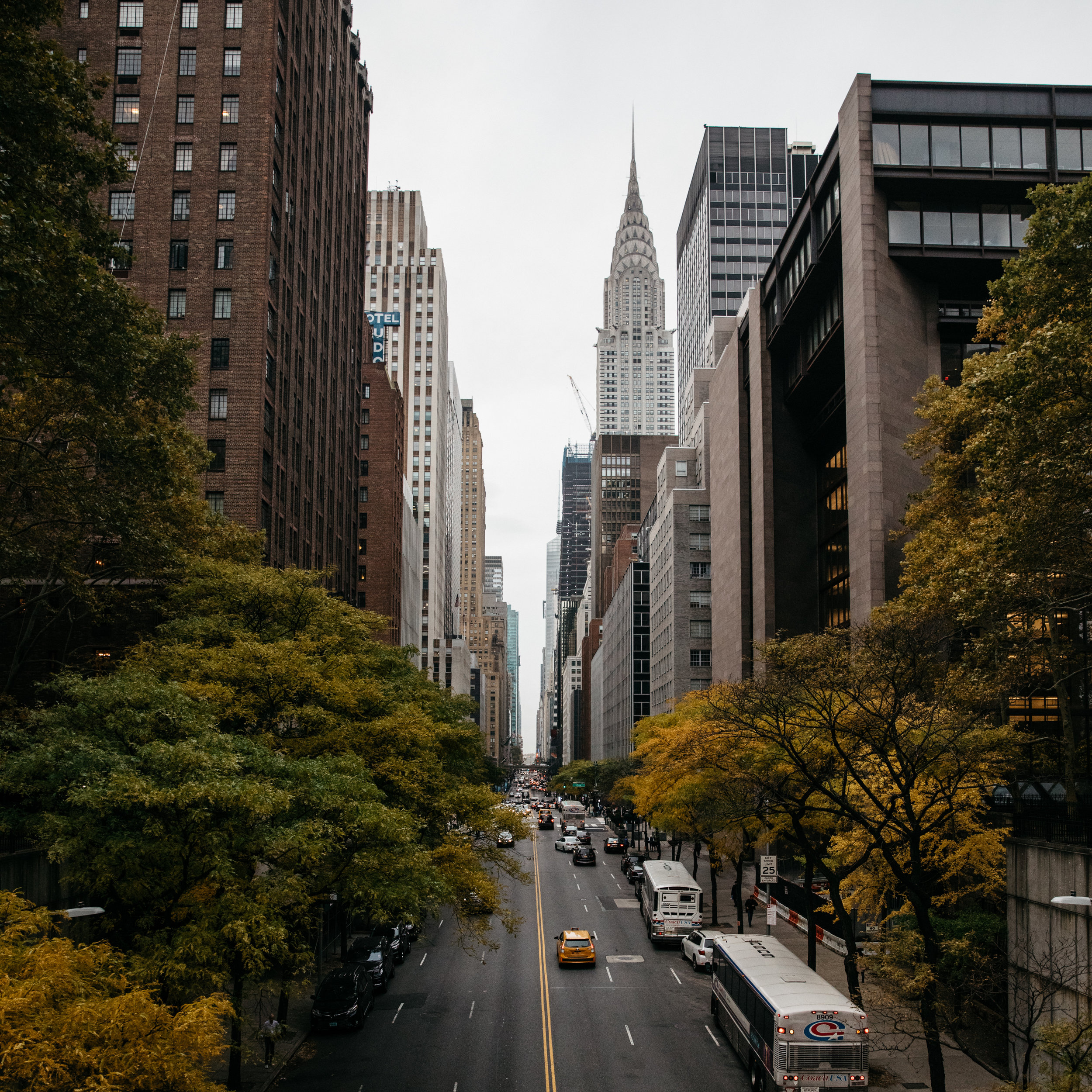 View from Tudor City Place in New York City