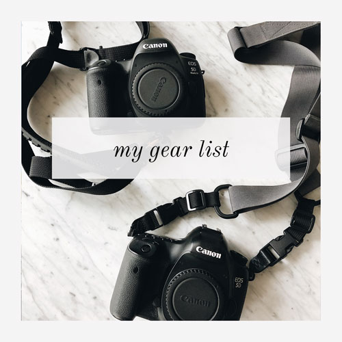 my photography gear list