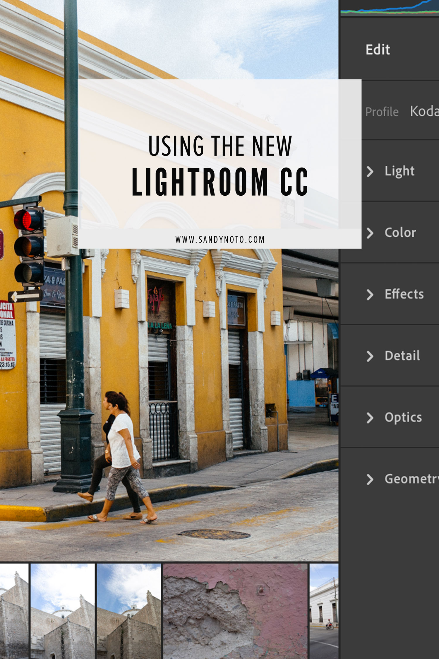 Using the new lightroom cc
