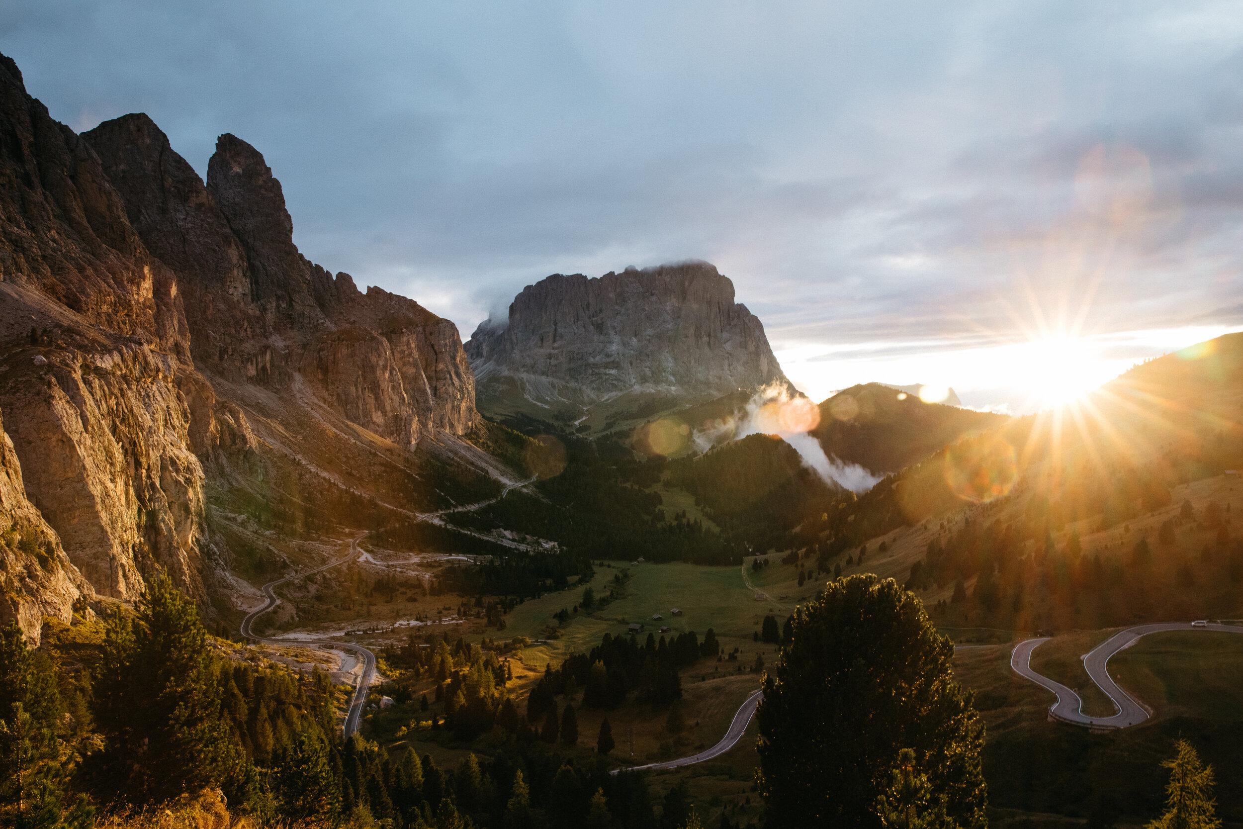 The Dolomites at Sunset