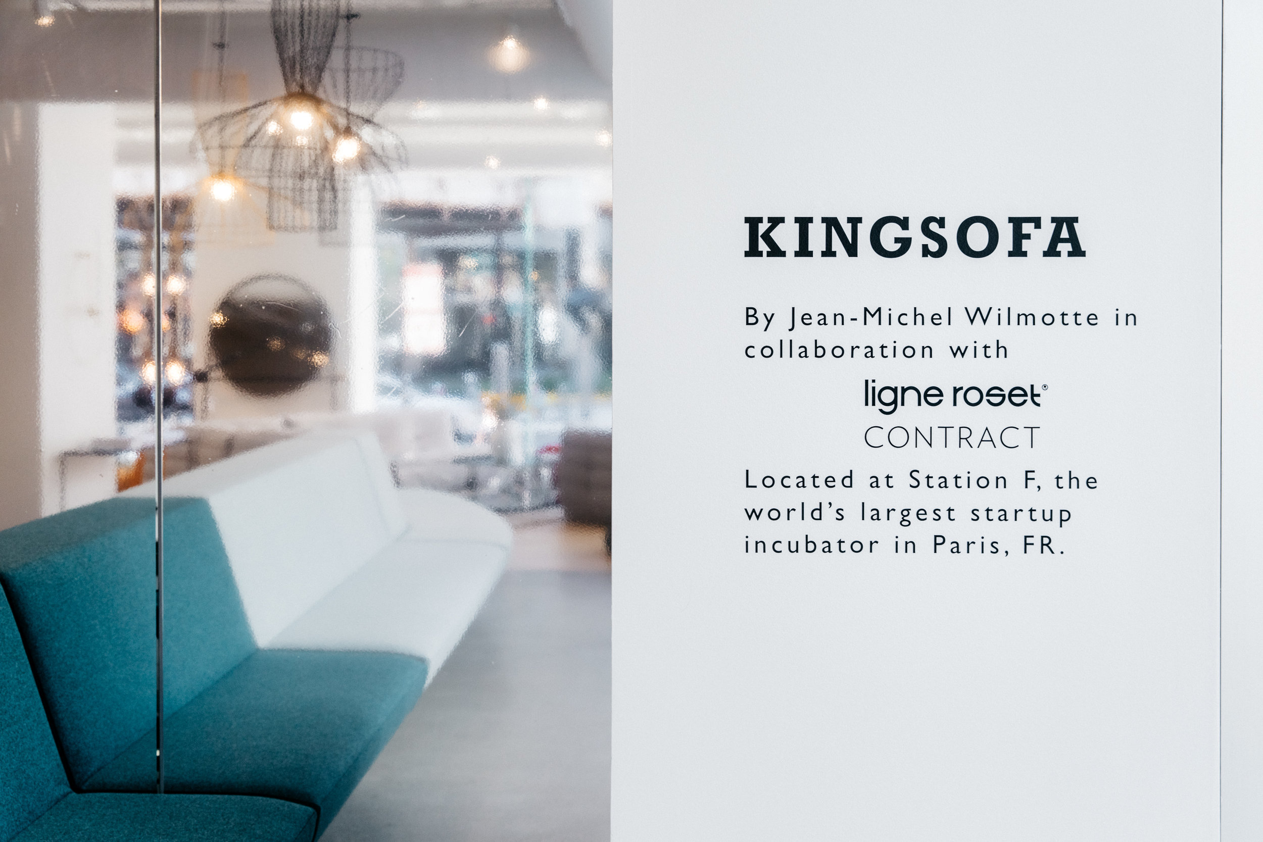 Ligne Roset King Sofa photography from NeoCon weekend