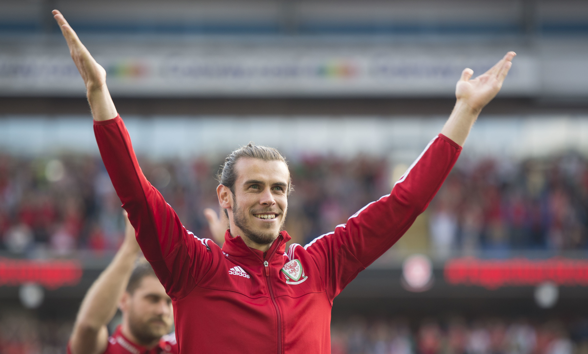 Homecoming event for the Euro 2016 Wales football team at the Cardiff City Stadium in Cardiff, South Wales. (Photo by Matthew Horwood)