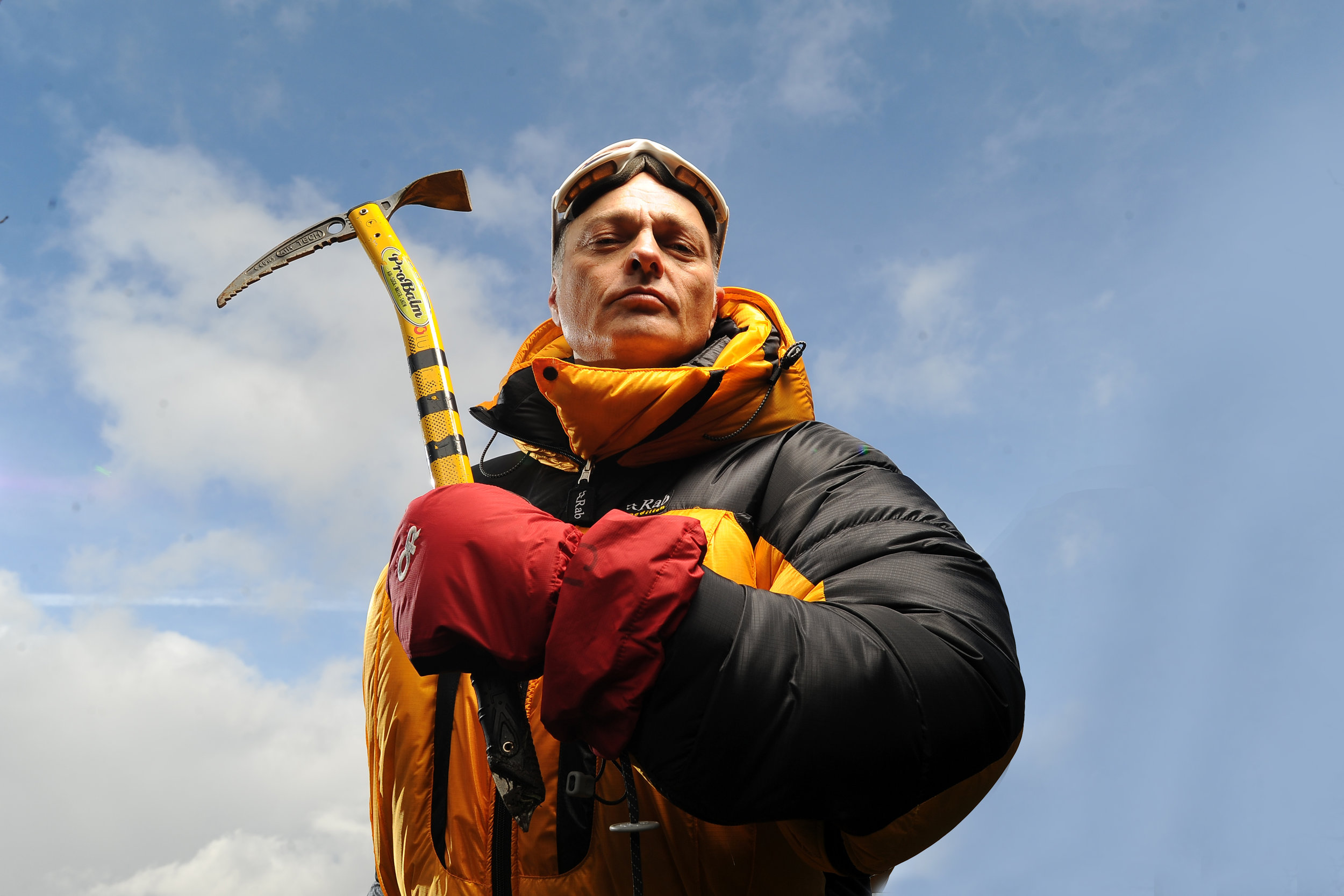 010213Adventurer Jeff Smith is going to climb Everest and paraglide off the top.PIC: Matthew Horwood / Media Wales