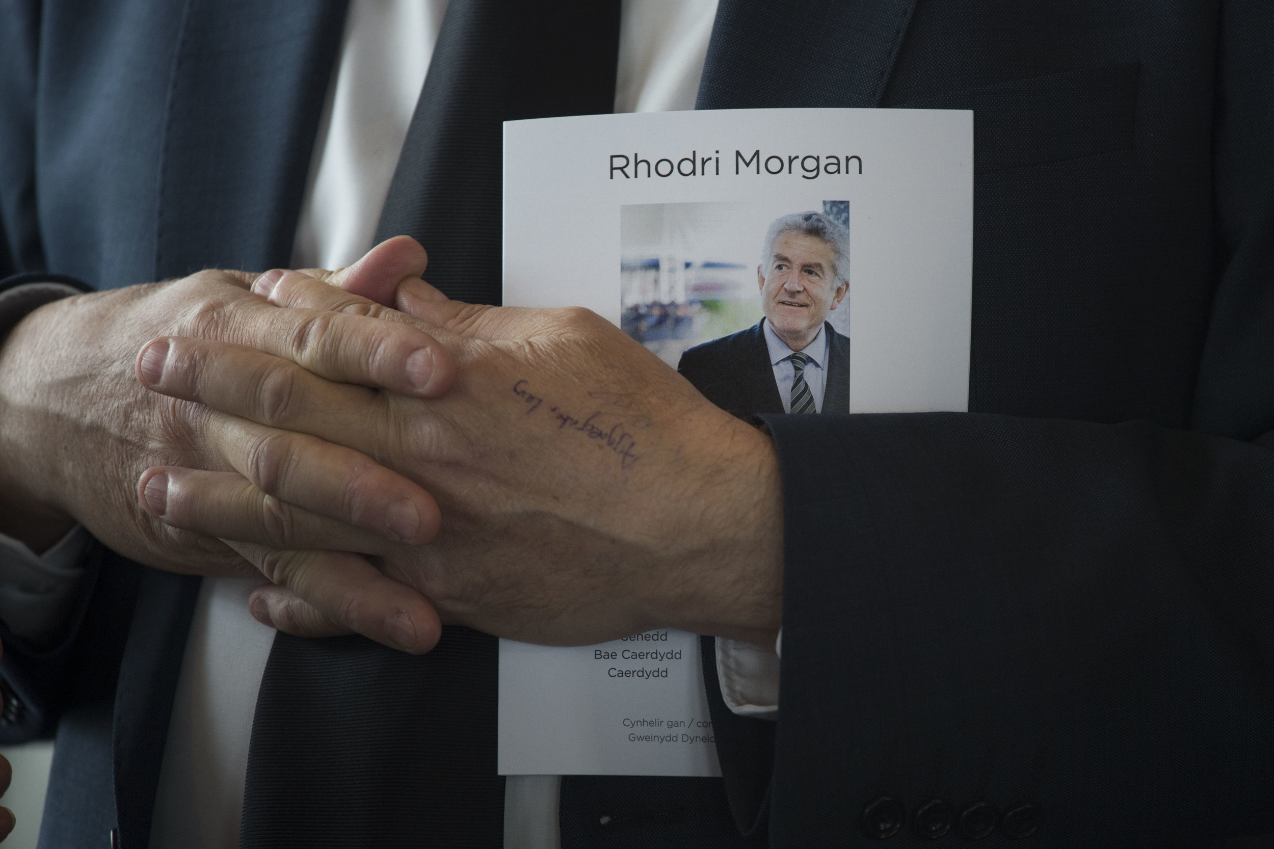 CARDIFF, WALES - MAY 31: An order of service is seen during the funeral of former First Minister of Wales Rhodri Morgan at the Senedd in Cardiff Bay on May 31, 2017 in Cardiff, Wales. Rhodri Morgan was Wales' inaugural First Minister and the Leader of Welsh Labour from 2000 to 2009. He died aged 77 on May 17, 2017. (Photo by Matthew Horwood/Getty Images)