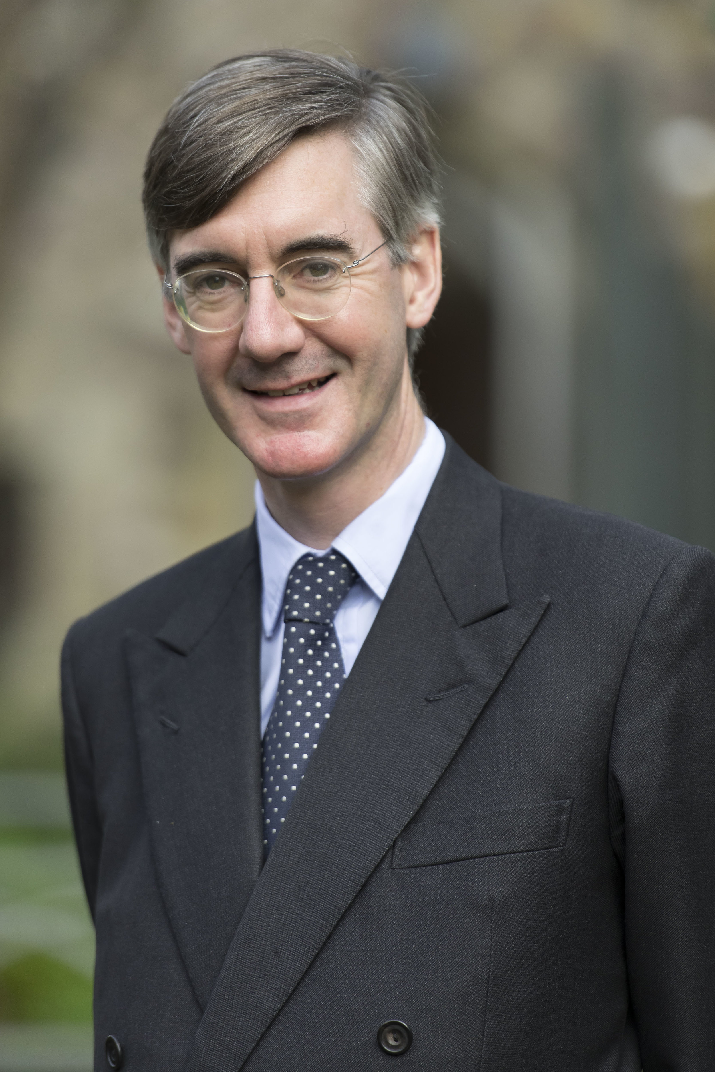 """CARDIFF, WALES - SEPTEMBER 29: Jacob Rees-Mogg, MP for North East Somerset, poses for a picture following a talk called Faith in the Future at the Cornerstone Church on September 29, 2017 in Cardiff, Wales. The talk, titled """"Faith in the Future"""", explores issues surrounding the importance of faith in the public and private life of our society. Jacob Rees-Mogg has recently caused controversy over his opposition to abortion after rape or incest. (Photo by Matthew Horwood/Getty Images)"""