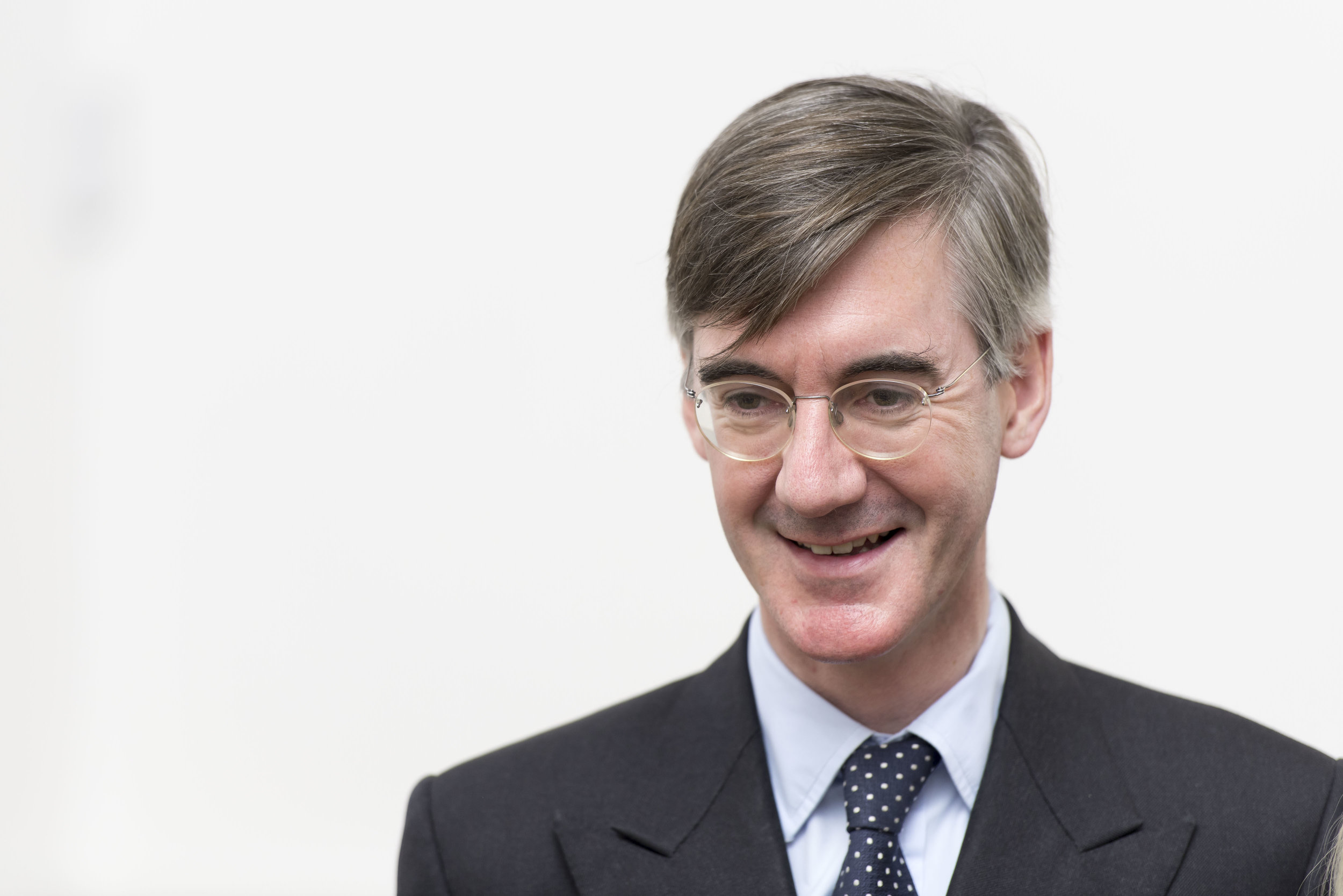 """CARDIFF, WALES - SEPTEMBER 29: Jacob Rees-Mogg, MP for North East Somerset, speaks during a talk called Faith in the Future at the Cornerstone Church on September 29, 2017 in Cardiff, Wales. The talk, titled """"Faith in the Future"""", explores issues surrounding the importance of faith in the public and private life of our society. Jacob Rees-Mogg has recently caused controversy over his opposition to abortion after rape or incest. (Photo by Matthew Horwood/Getty Images)"""